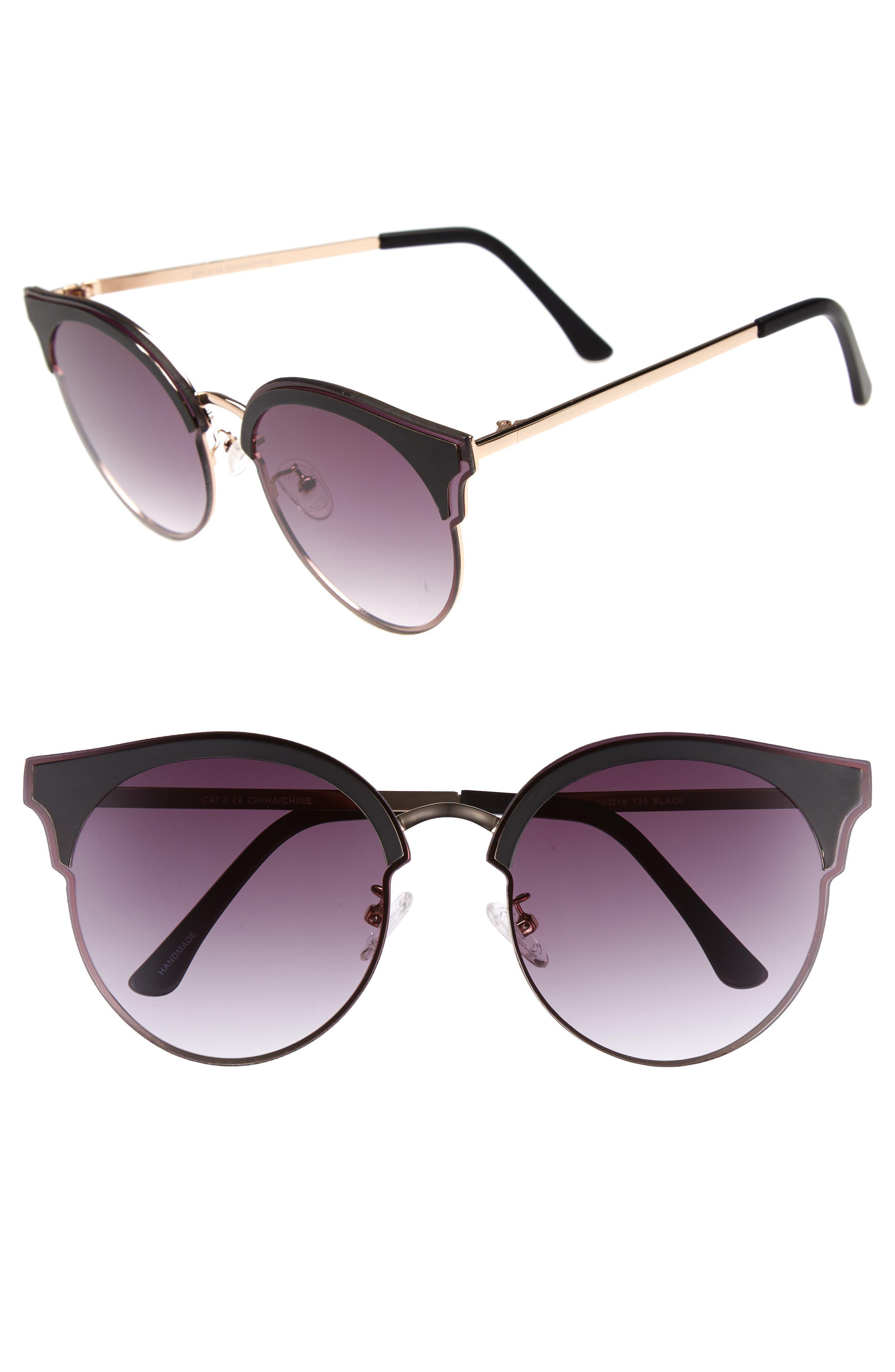 Mia 60mm Sunglasses,                         Main,                         color, Matte Black