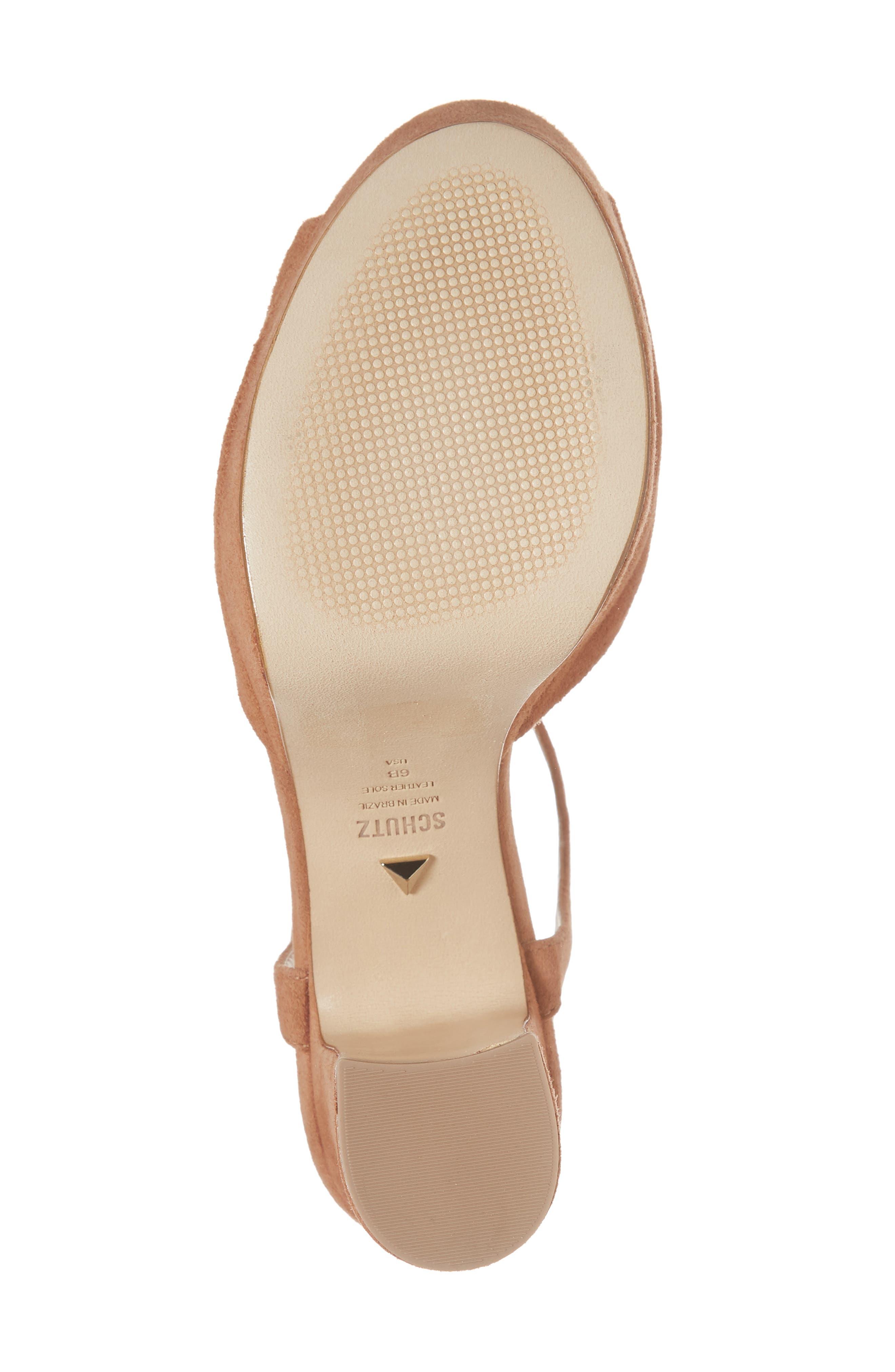 Thalyta Platform Sandal,                             Alternate thumbnail 6, color,                             Toasted Nut