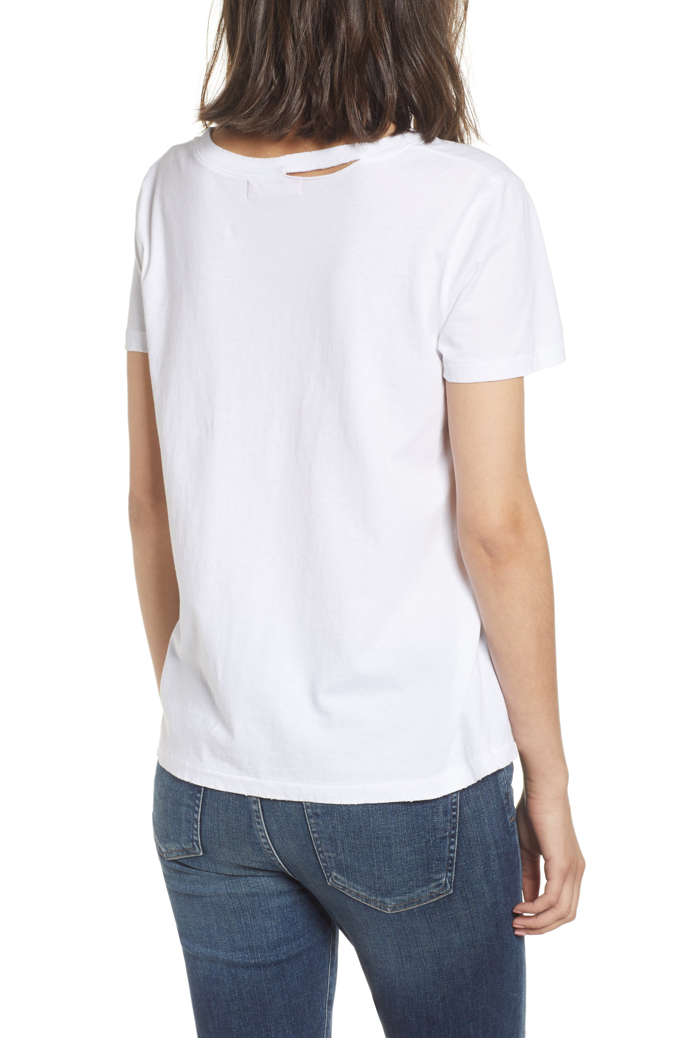 Harlow Embroidered Tee,                             Alternate thumbnail 2, color,                             White