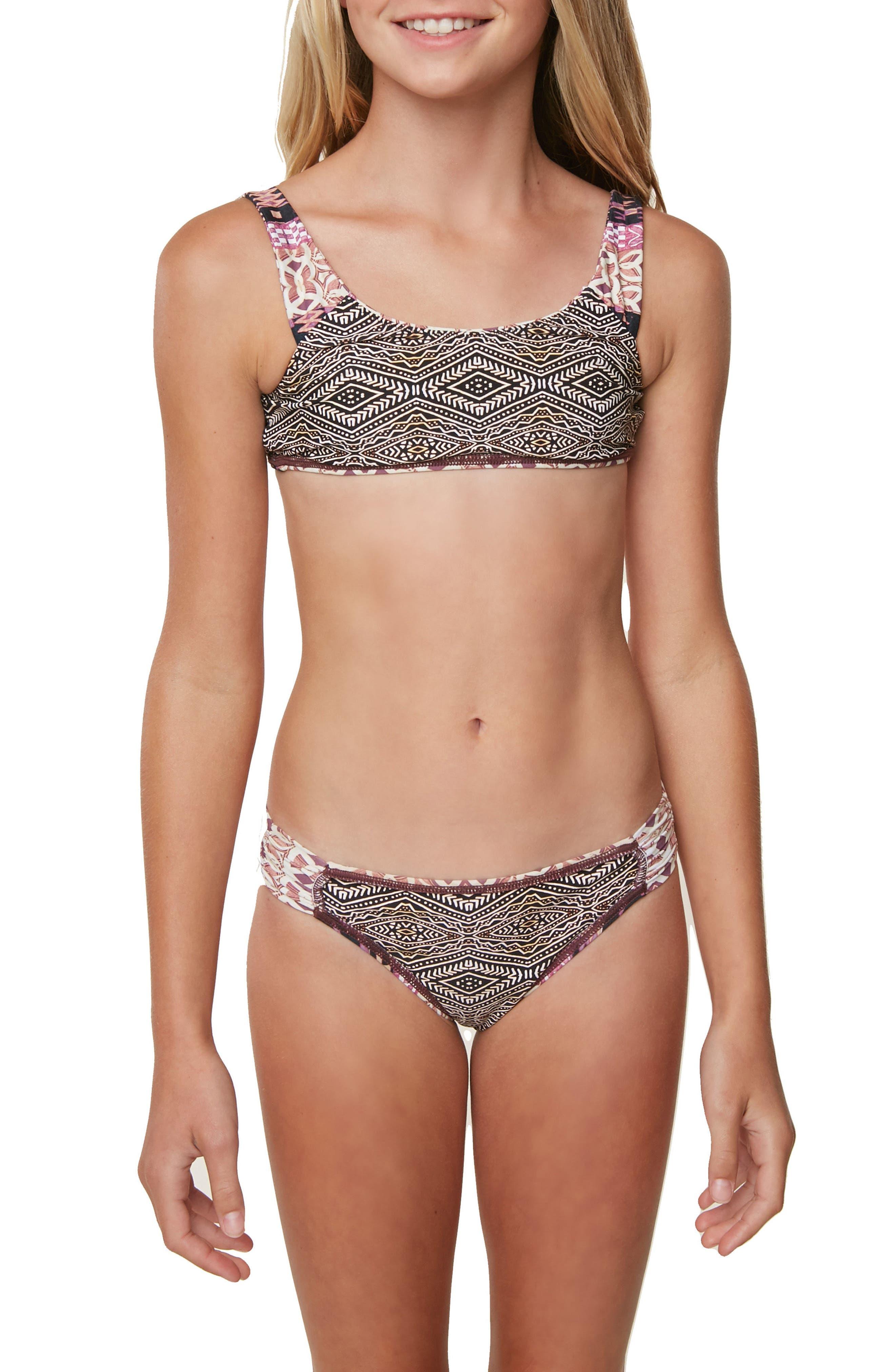 Alternate Image 5  - O'Neill Zanzibar Reversible Two-Piece Swimsuit (Big GIrls)