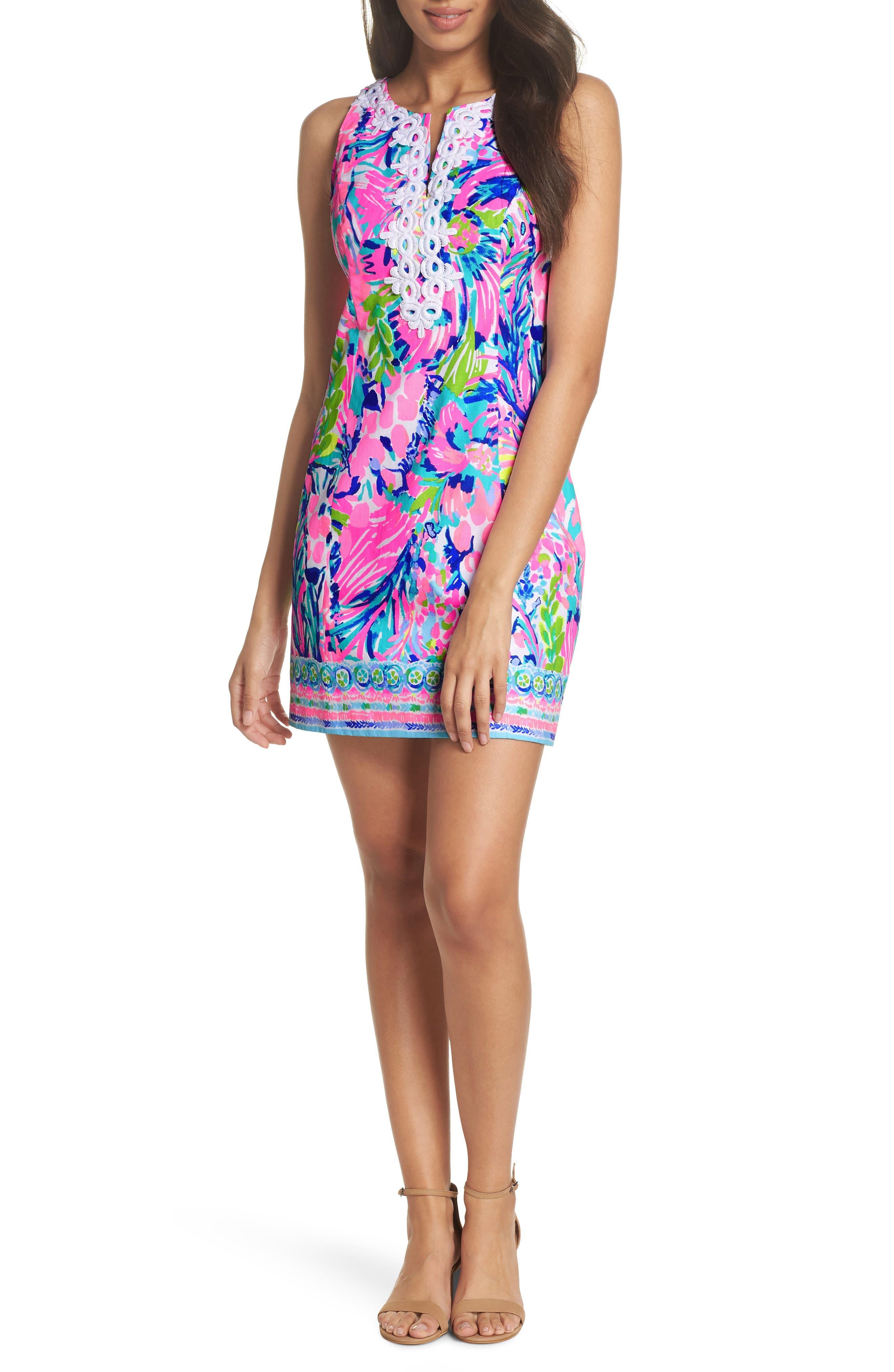 Gabby Tropical Print Dress,                             Main thumbnail 1, color,                             Multi Gumbo Limbo