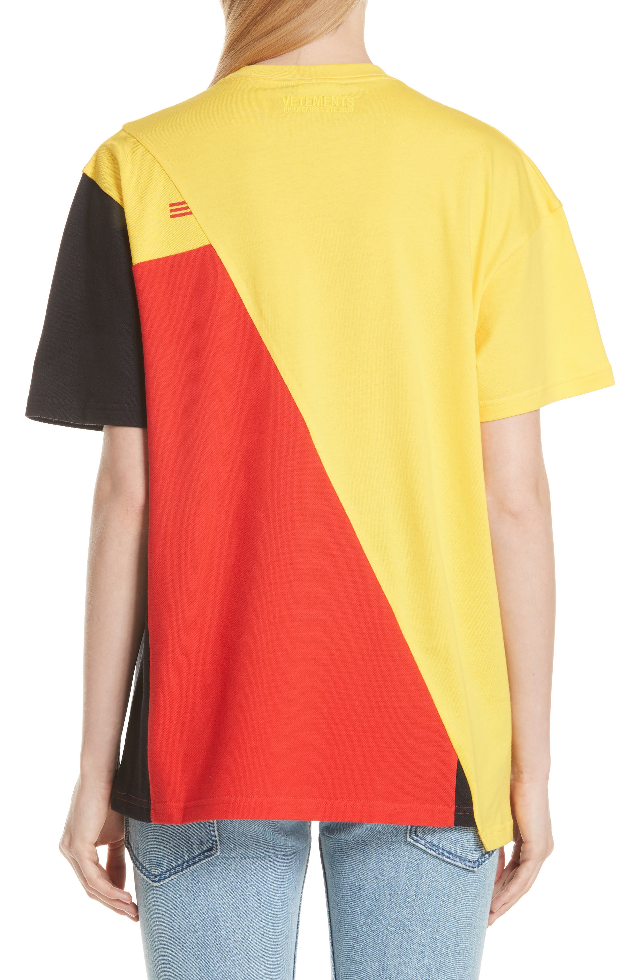 DHL Cut-Up Tee,                             Alternate thumbnail 2, color,                             Yellow