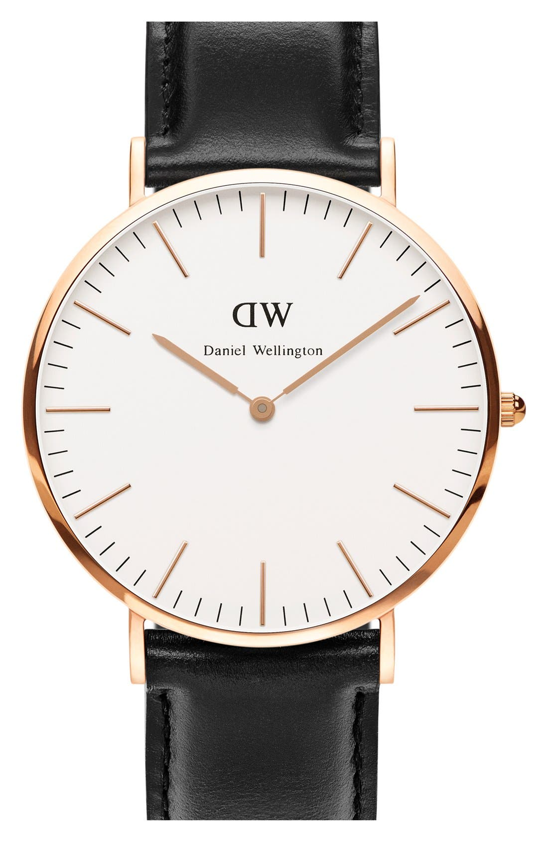Main Image - Daniel Wellington 'Classic Sheffield' Leather Strap Watch, 40mm