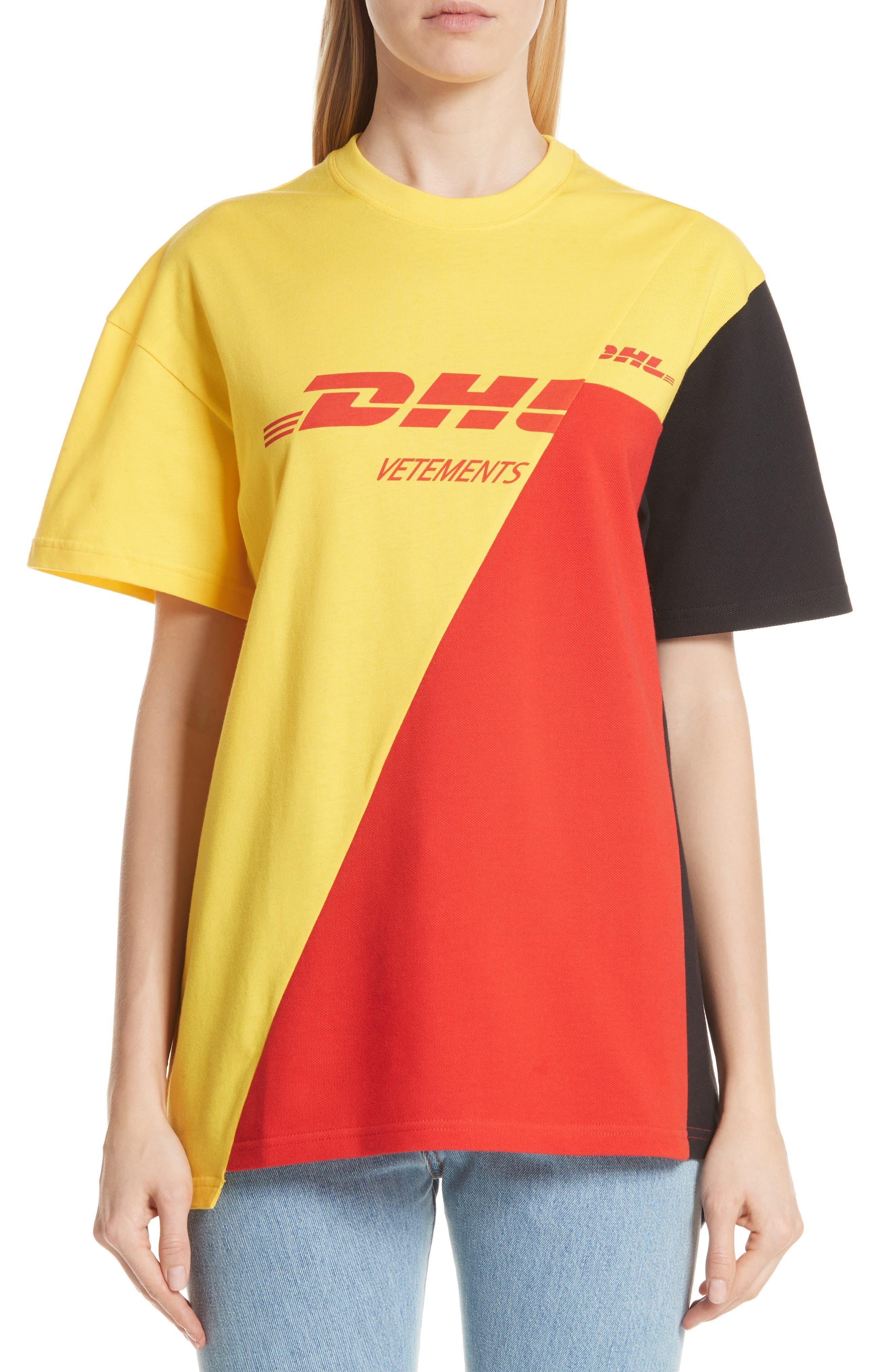 DHL Cut-Up Tee,                             Main thumbnail 1, color,                             Yellow