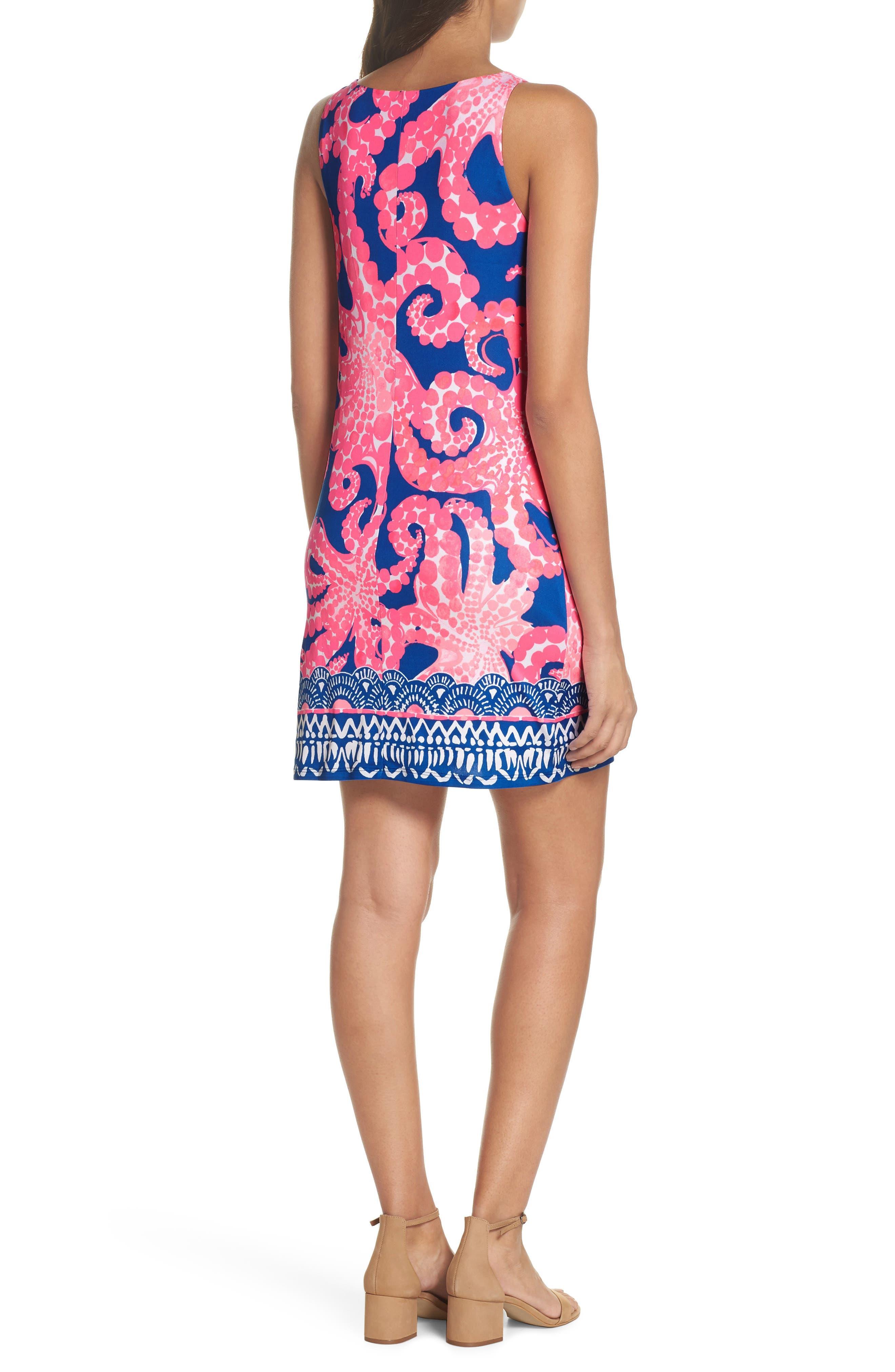 Kyra Silk Shift Dress,                             Alternate thumbnail 2, color,                             Ikat Blue Mocean