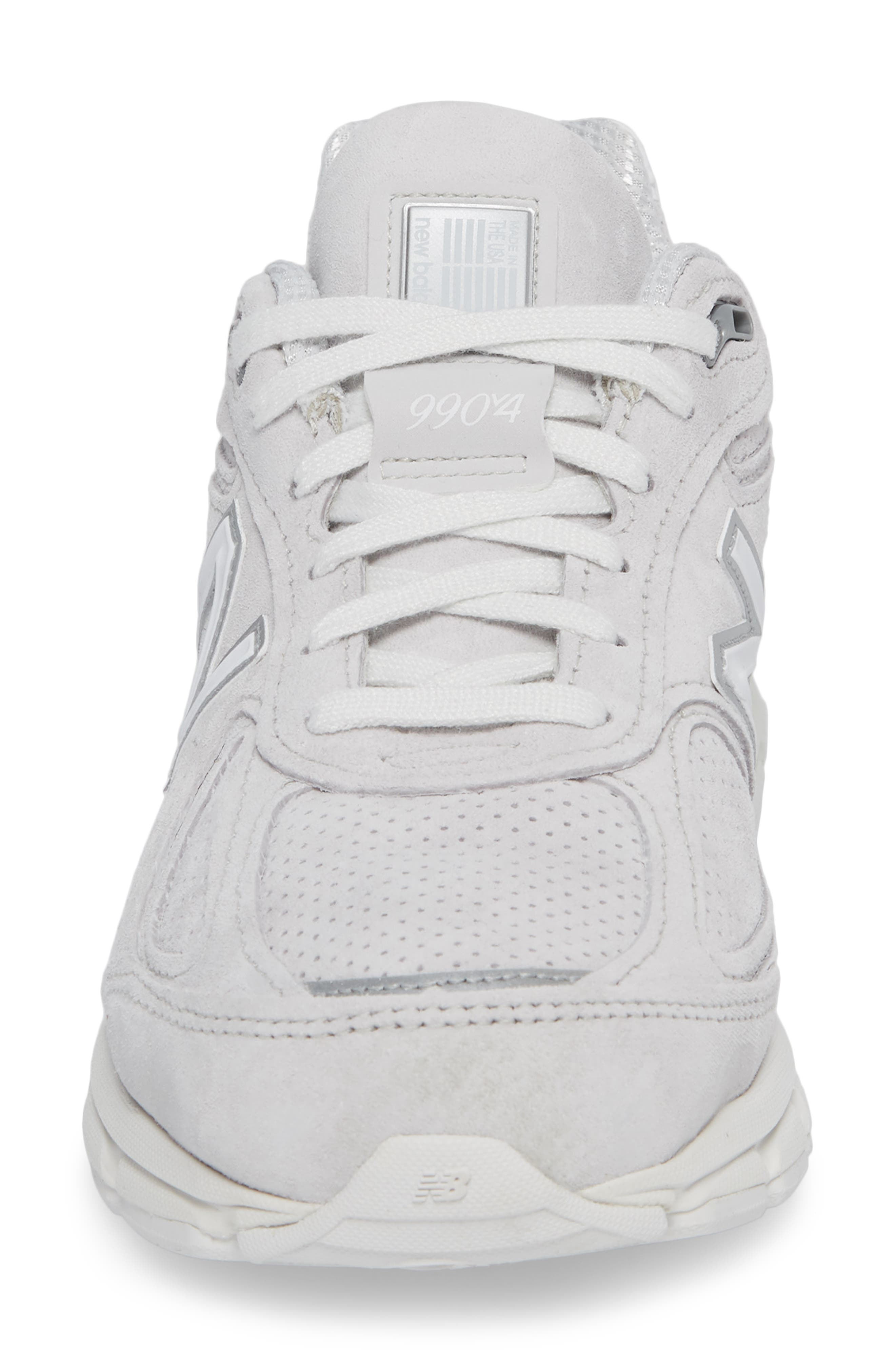 990v4 Perforated Sneaker,                             Alternate thumbnail 4, color,                             Arctic Fox