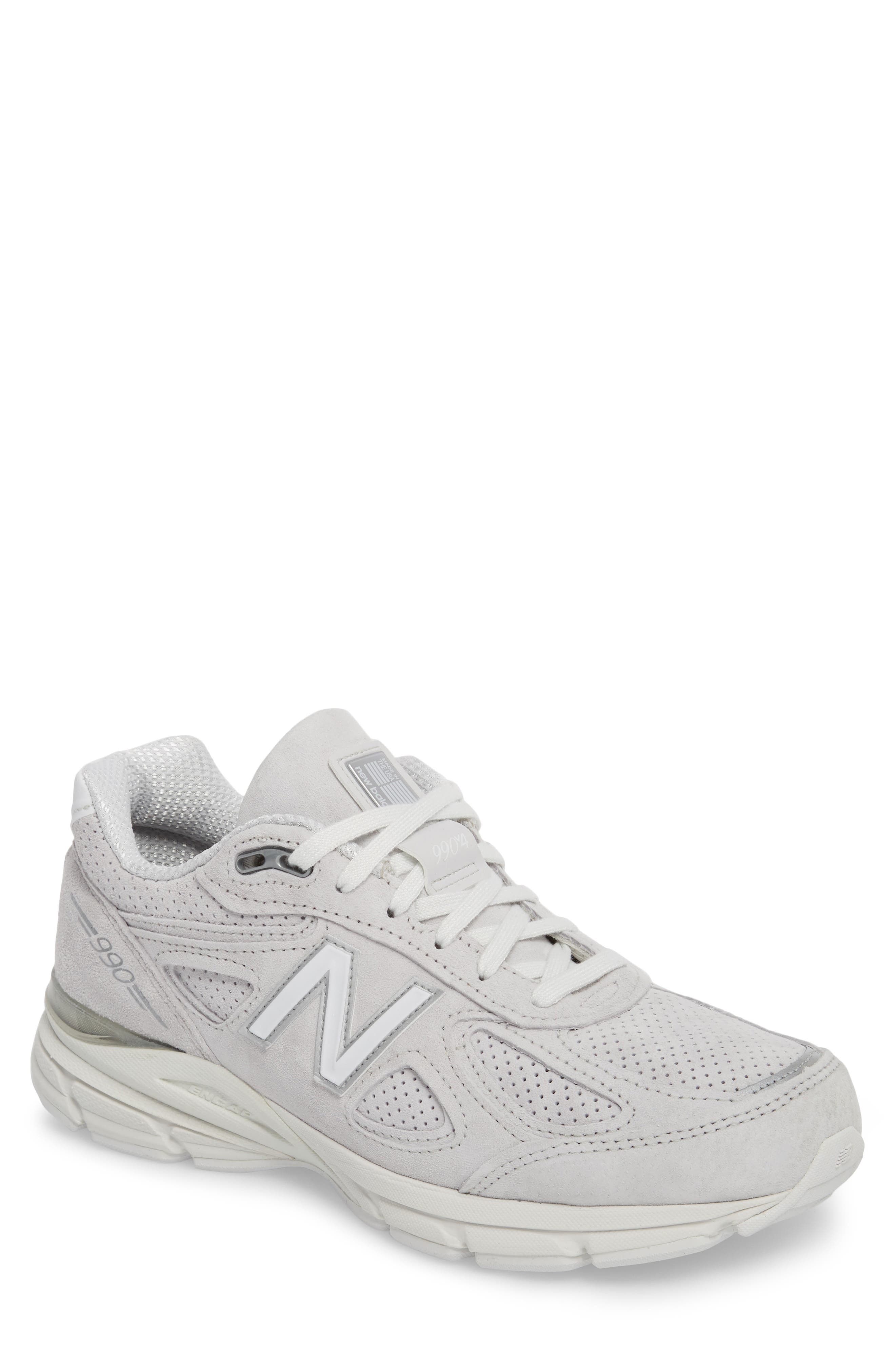 990v4 Perforated Sneaker,                         Main,                         color, Arctic Fox