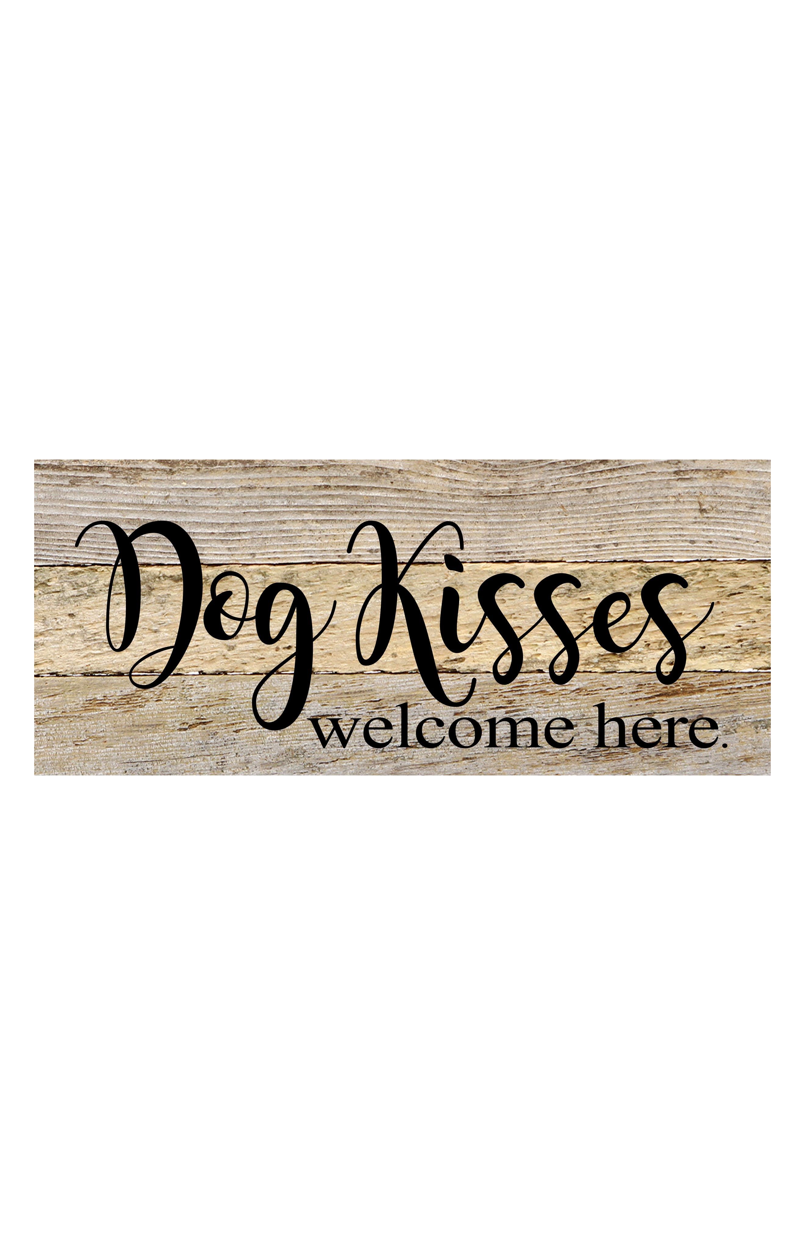 Dog Kisses Repurposed Wood Wall Art,                         Main,                         color, White