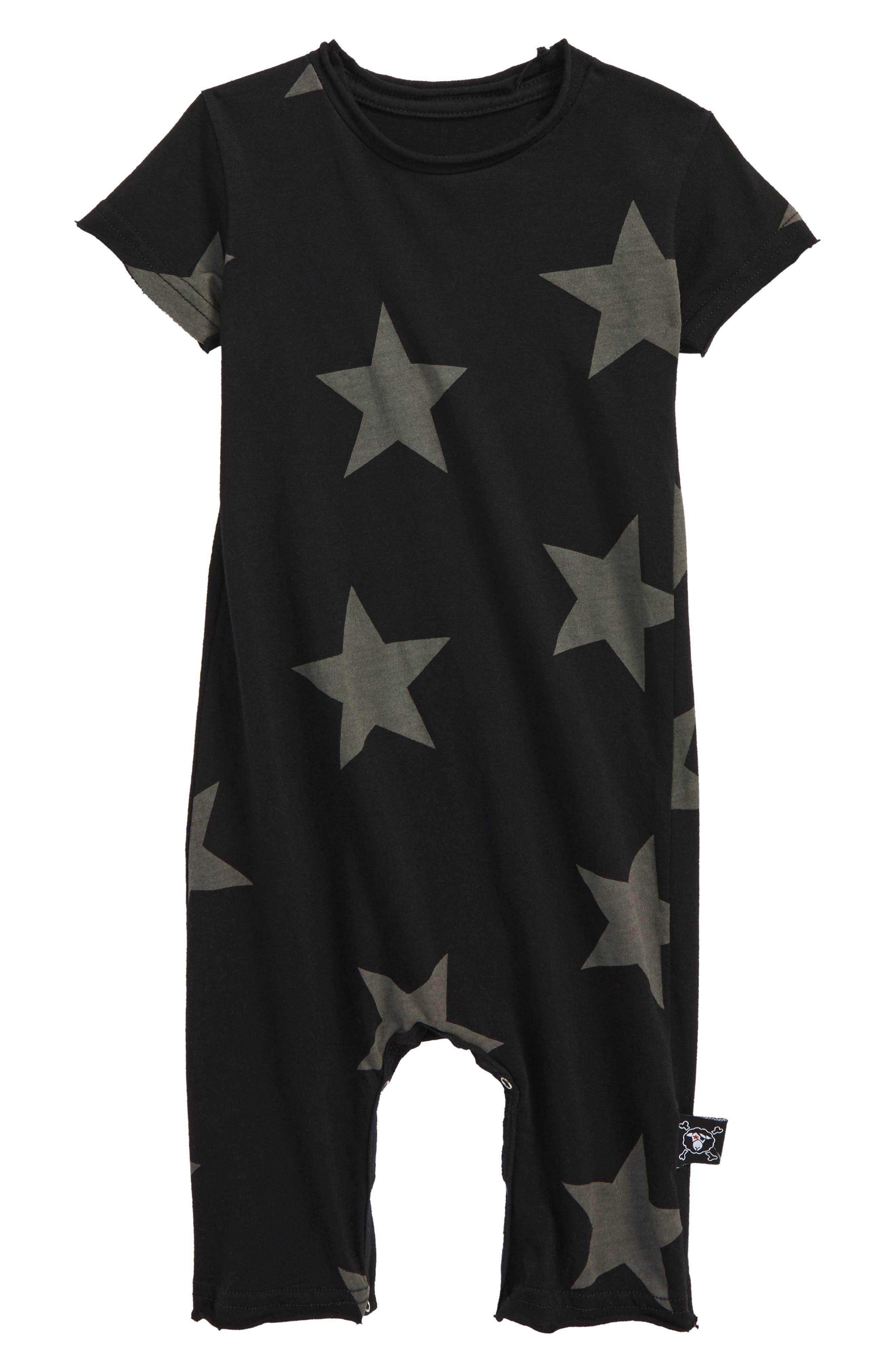 Star Romper,                             Main thumbnail 1, color,                             Black