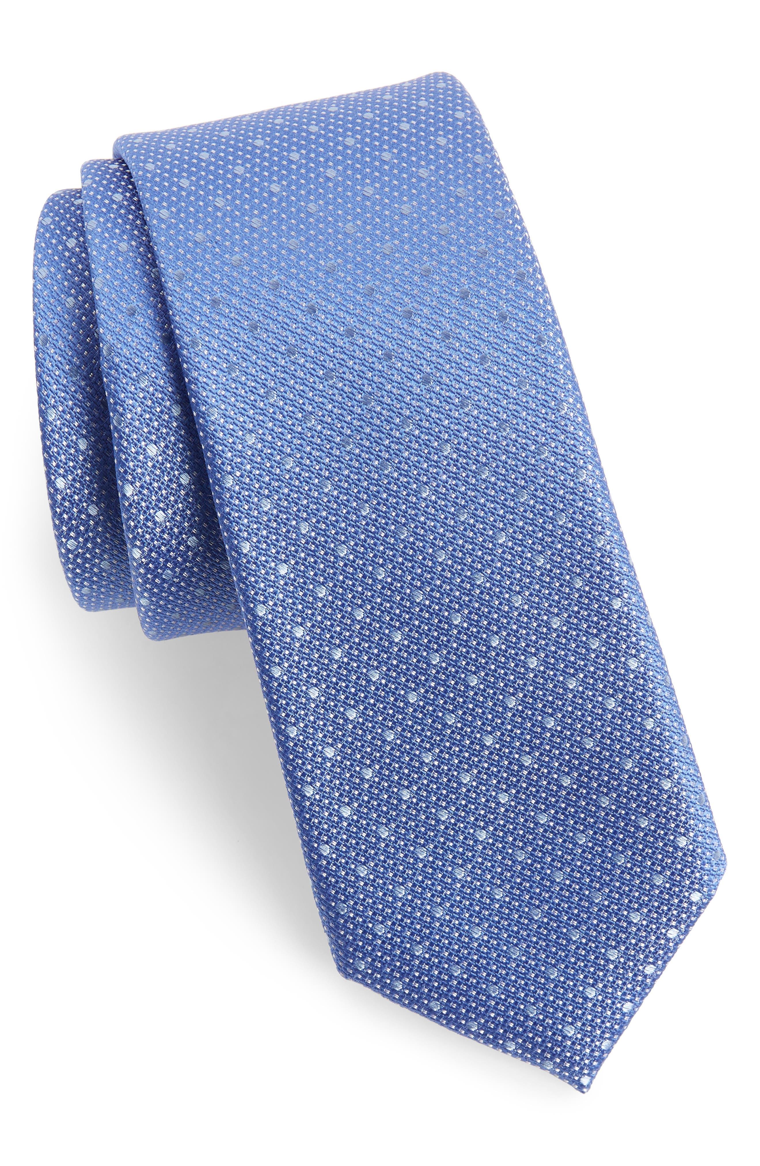 Aurora Dot Silk Tie,                             Main thumbnail 1, color,                             Blue