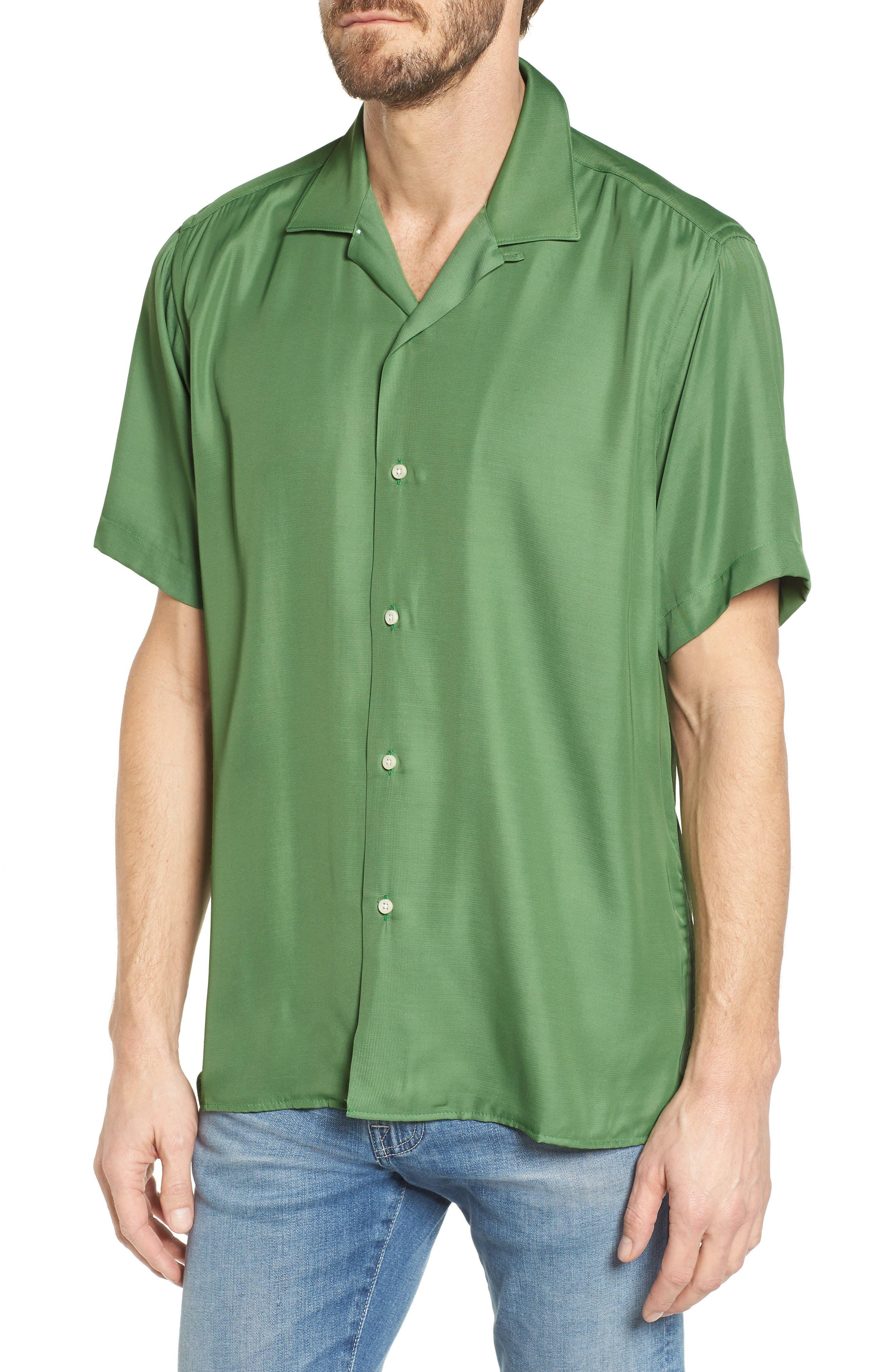 Camp Shirt,                         Main,                         color, Green
