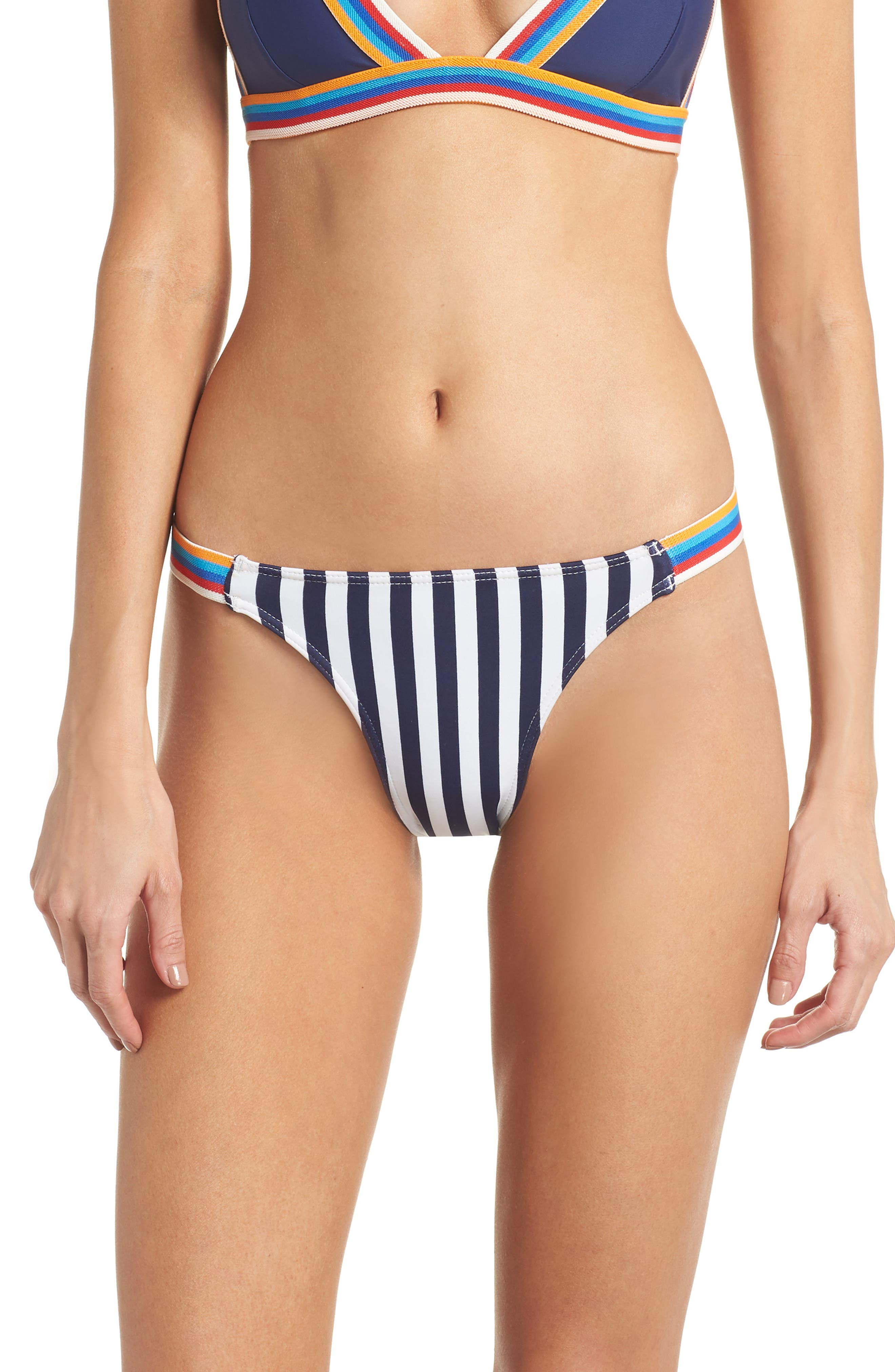 Sizzle Bikini Bottoms,                         Main,                         color, Navy