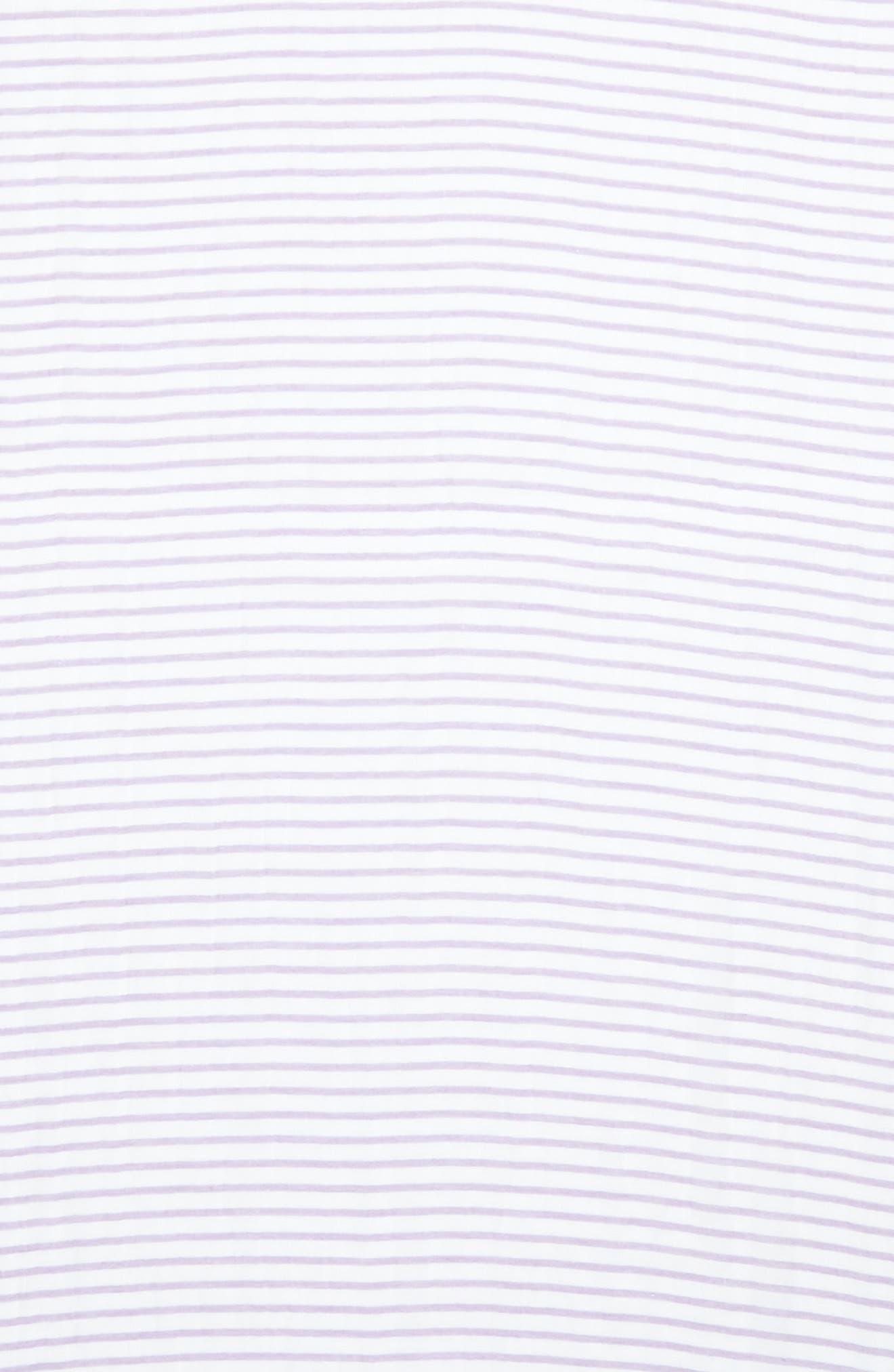 Reed Stripe Cotton & Linen Scarf,                             Alternate thumbnail 3, color,                             Mauve