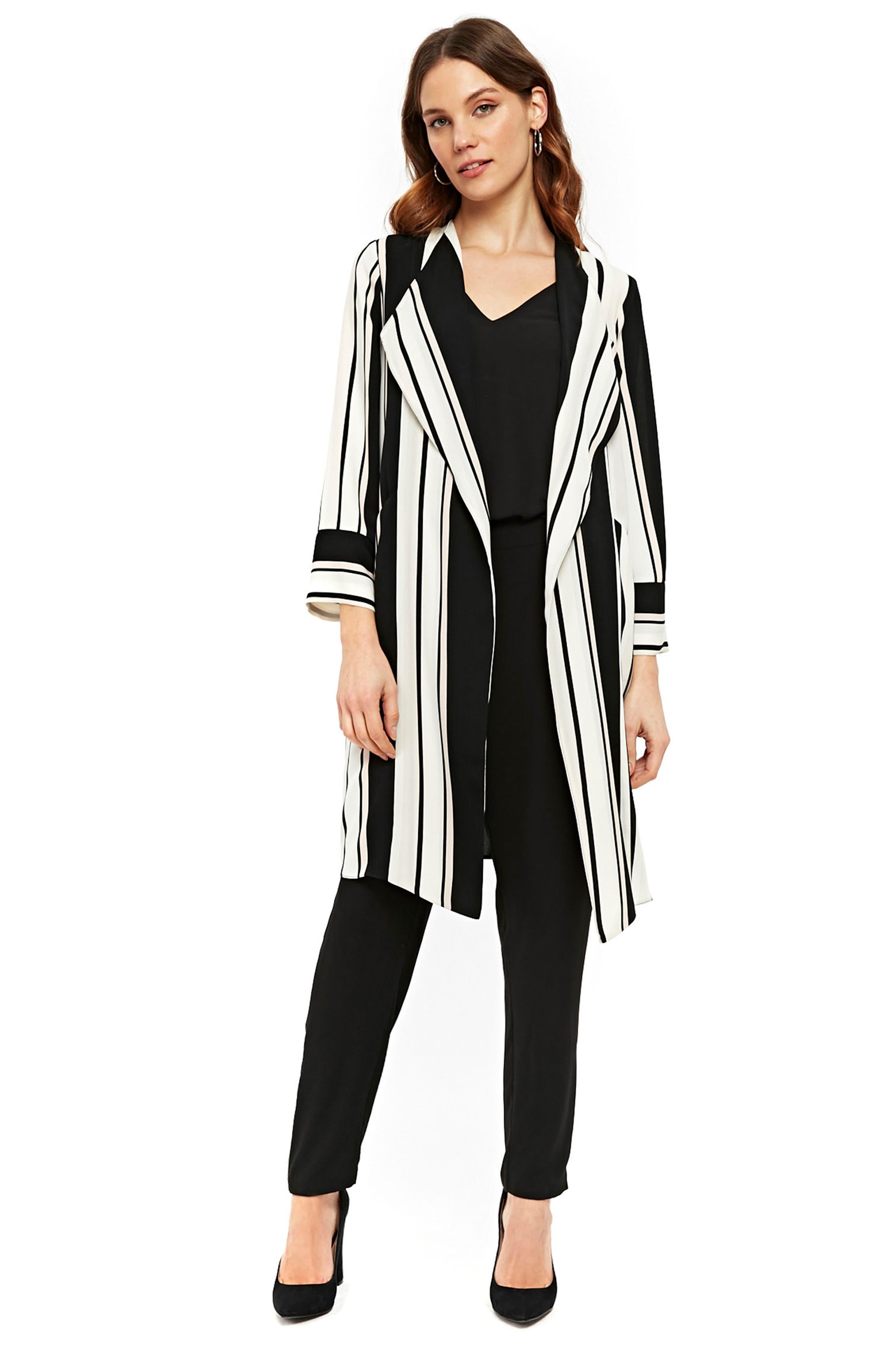Cut About Stella Stripe Duster Coat,                             Alternate thumbnail 2, color,