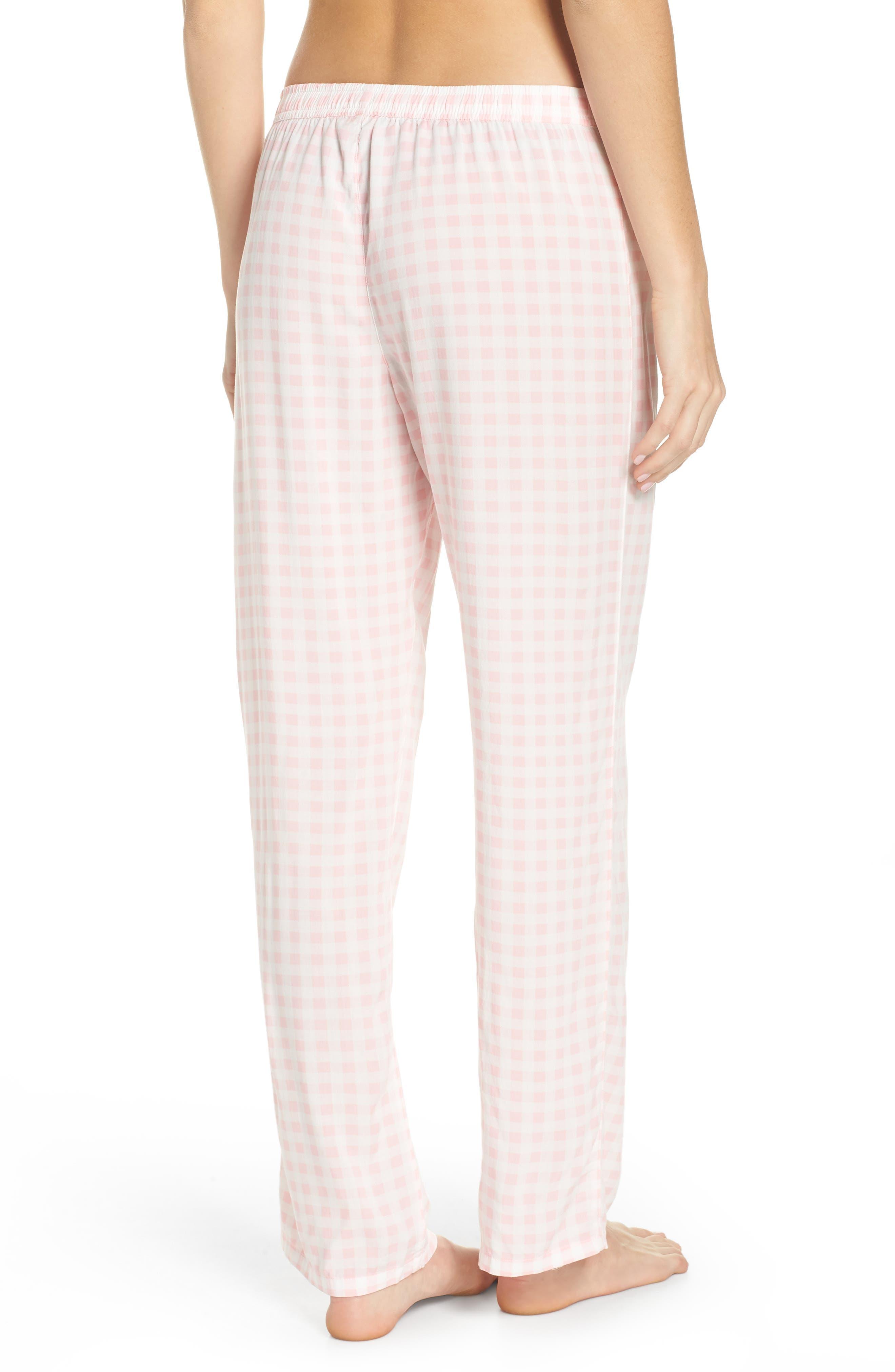 Gingham Pajama Pants,                             Alternate thumbnail 2, color,                             Pink
