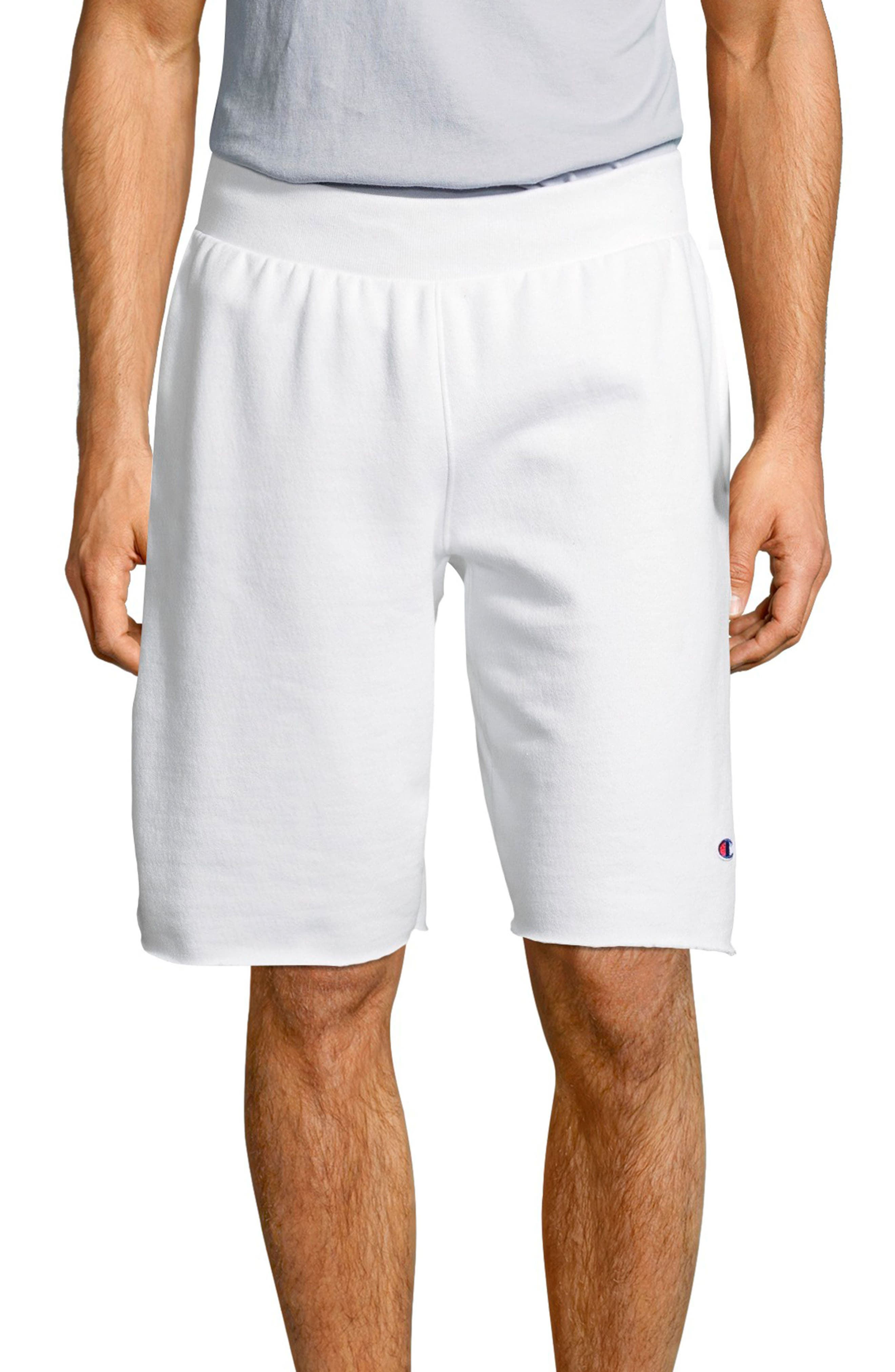 Reverse Weave Shorts,                         Main,                         color, White