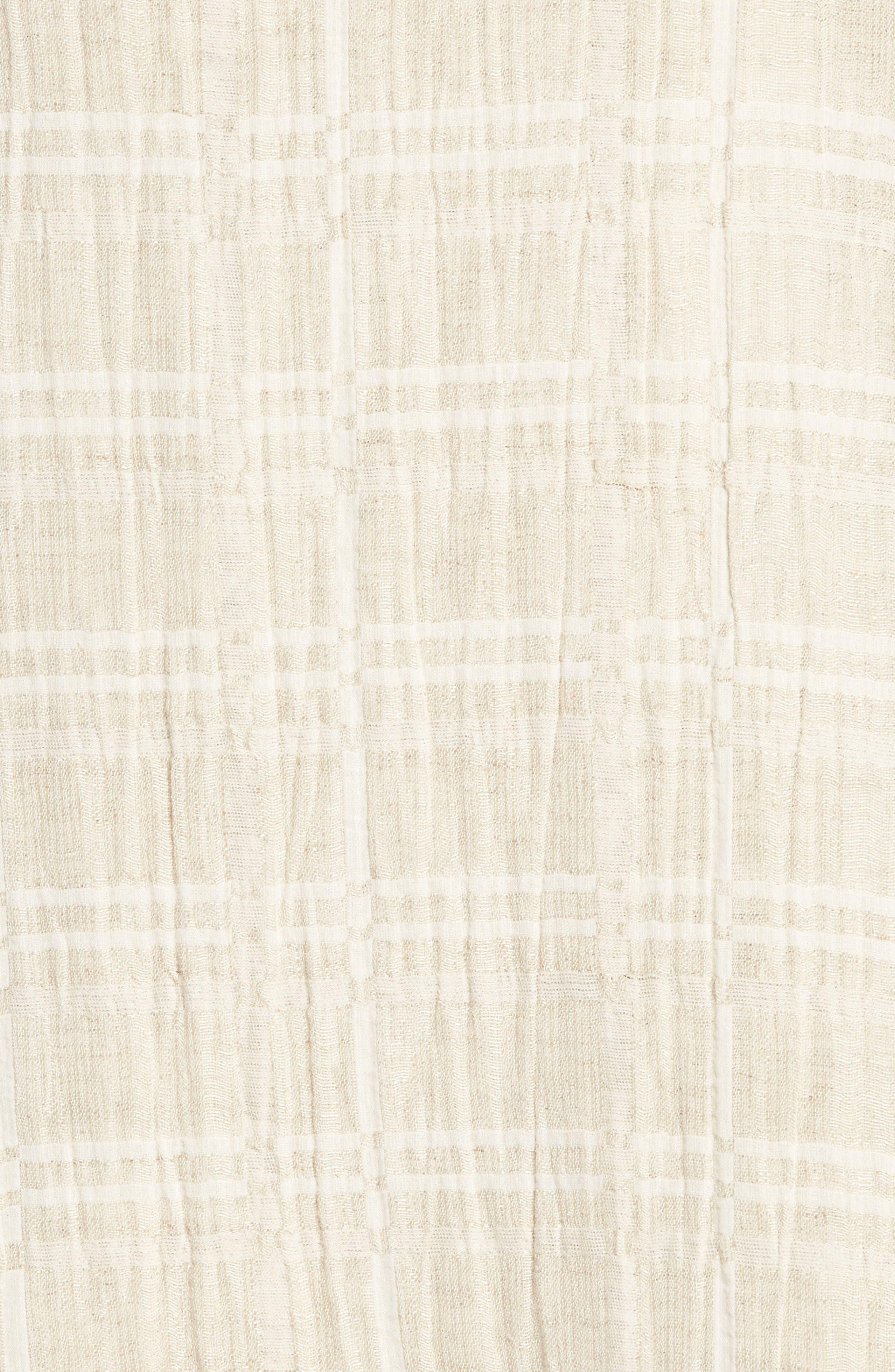 Organic Cotton & Linen Shift Dress,                             Alternate thumbnail 5, color,                             Natural