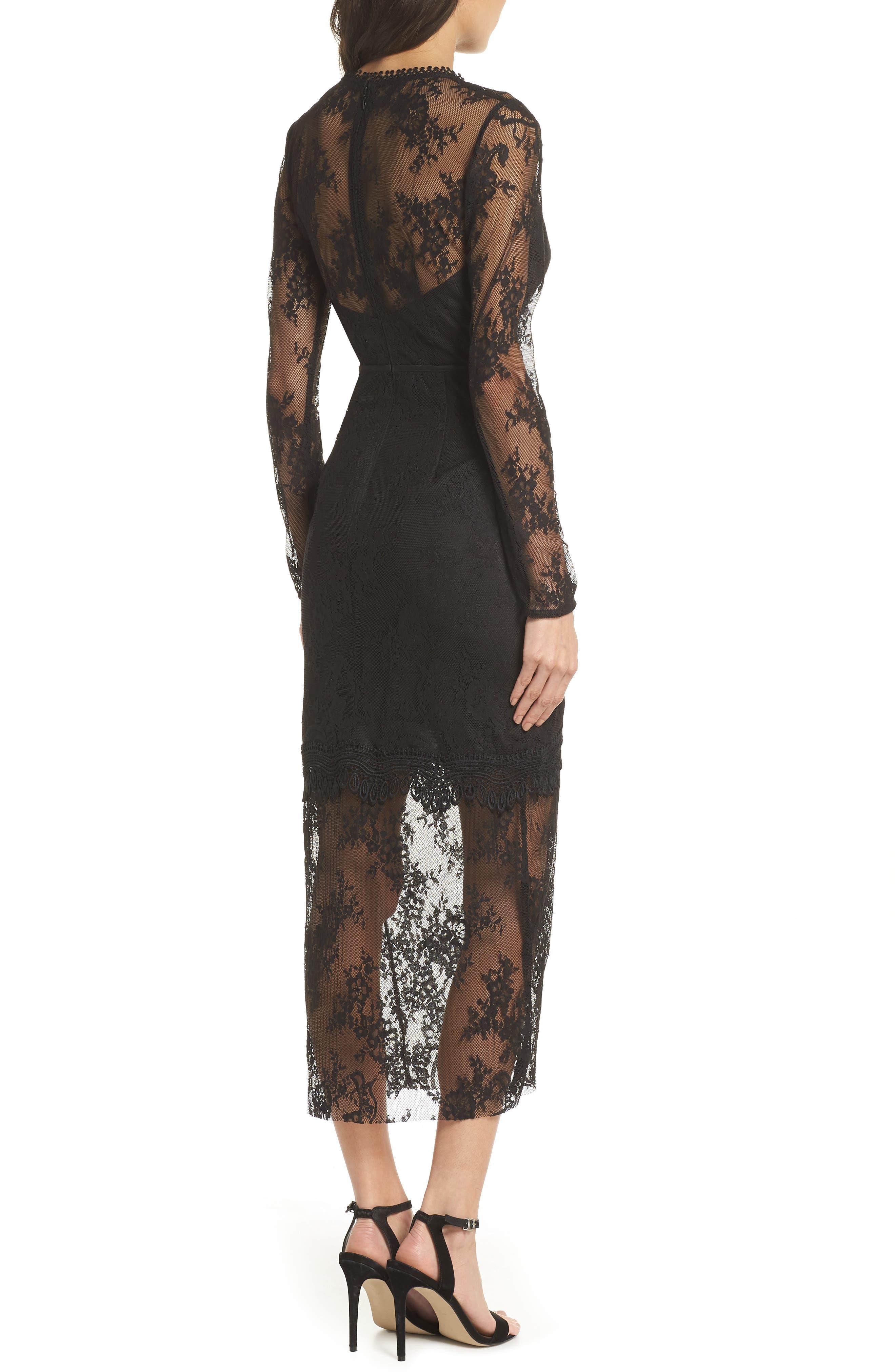 True Chemistry Lace Sheath Dress,                             Alternate thumbnail 2, color,                             Black