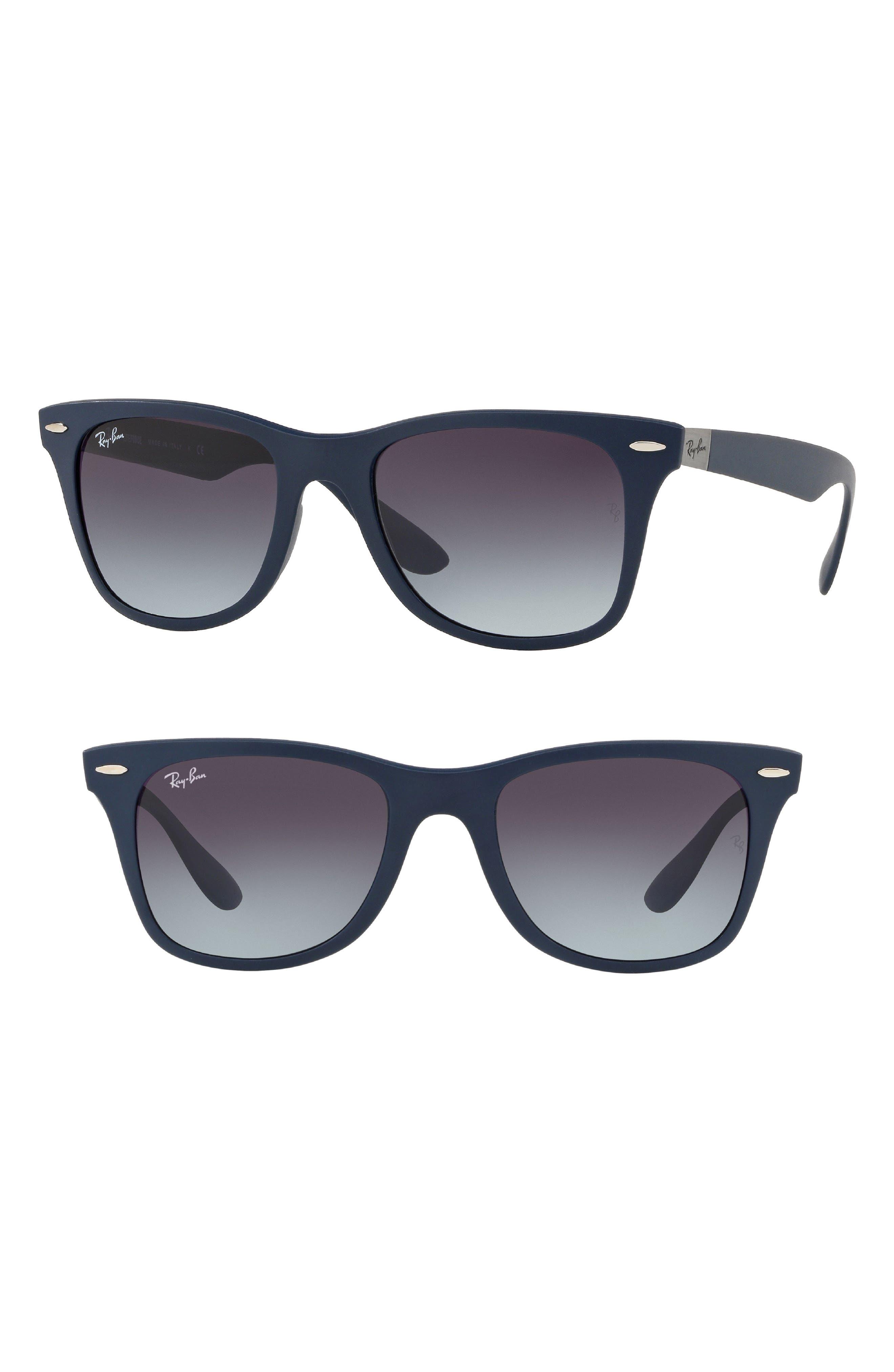 Wayfarer Liteforce 52mm Sunglasses,                             Main thumbnail 1, color,                             Blue Grey