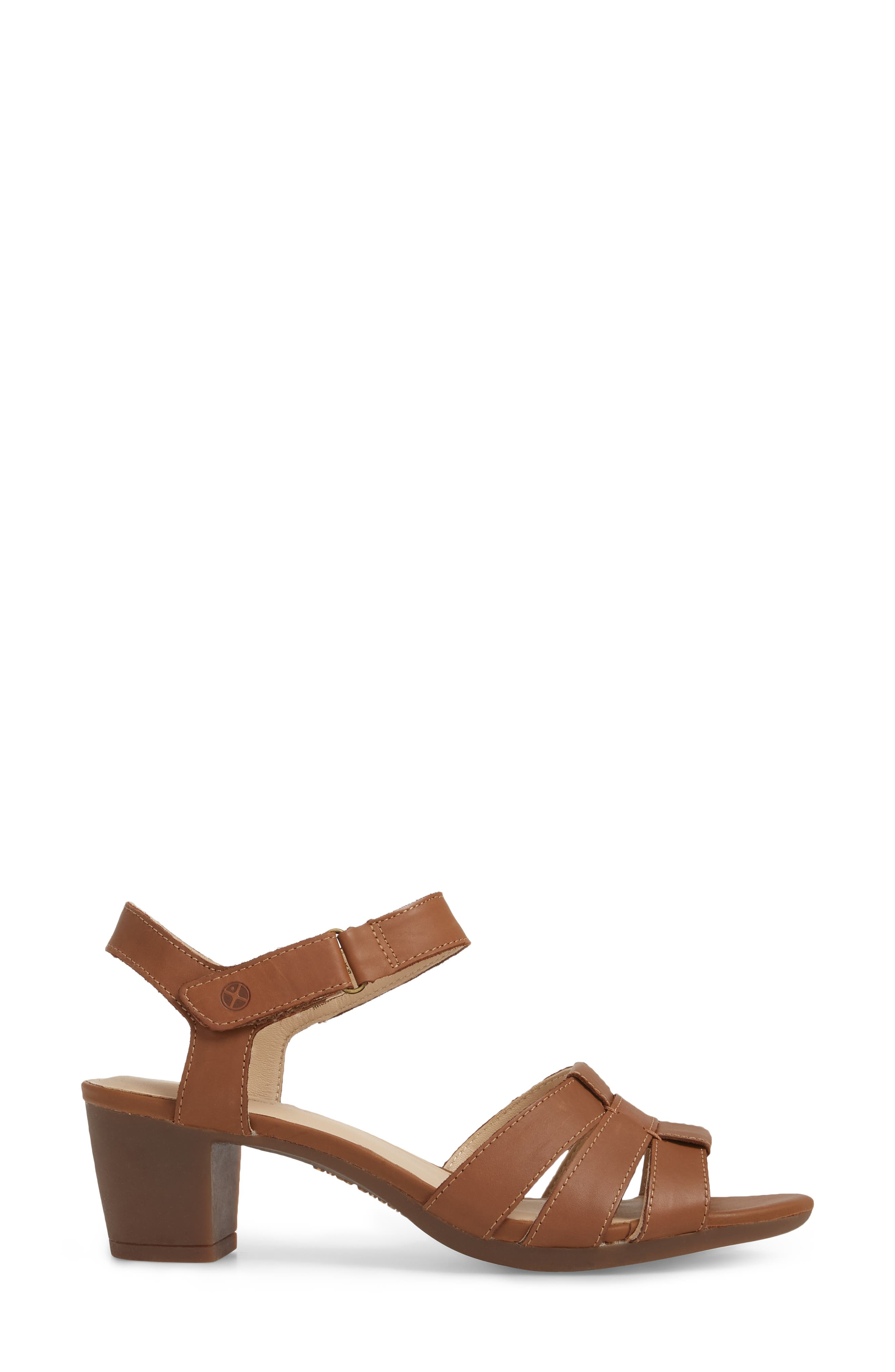Masseter Quarter Strap Sandal,                             Alternate thumbnail 3, color,                             Tan Leather