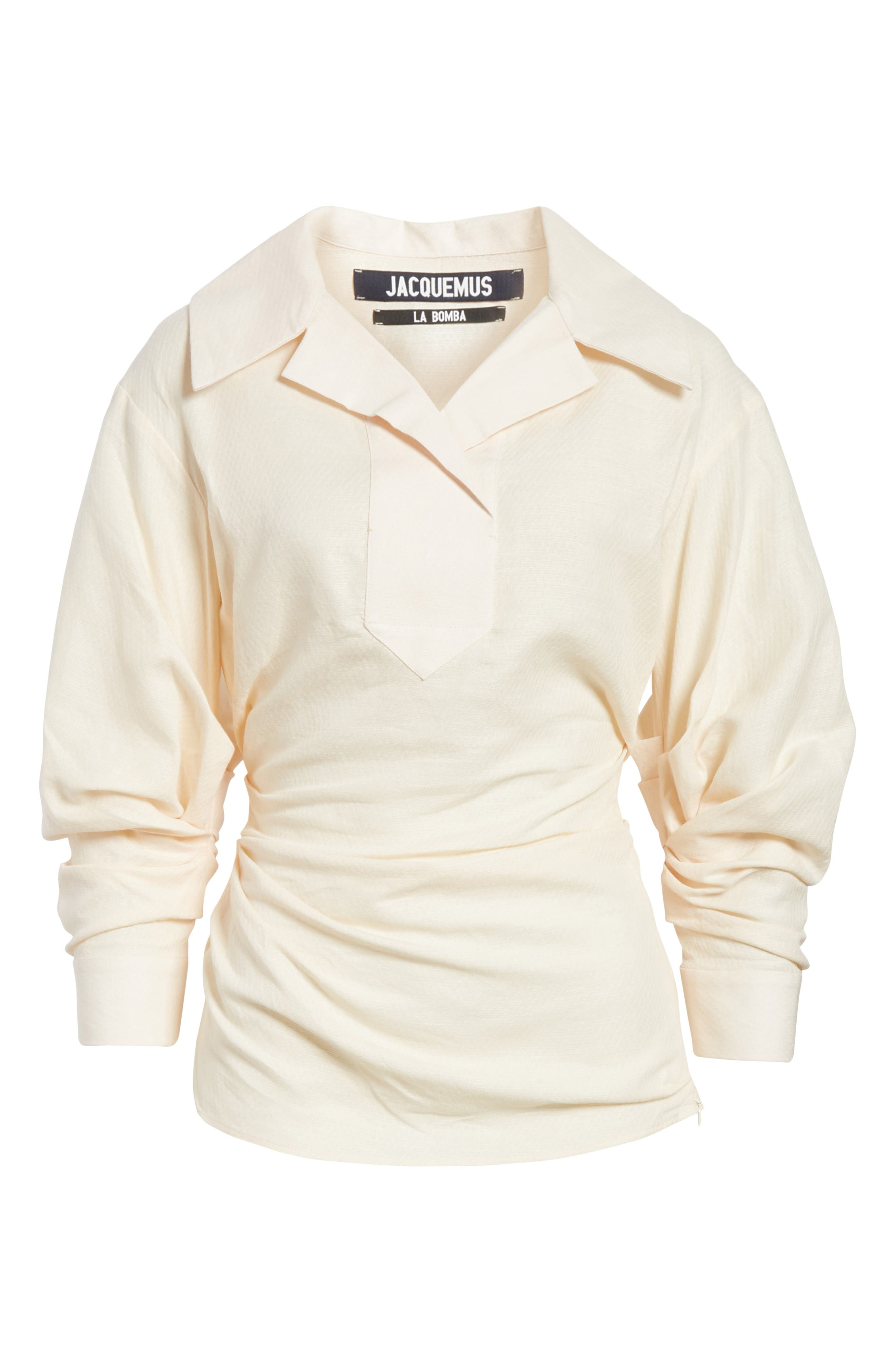 La Chemise Maceio Shirt,                             Alternate thumbnail 6, color,                             Beige