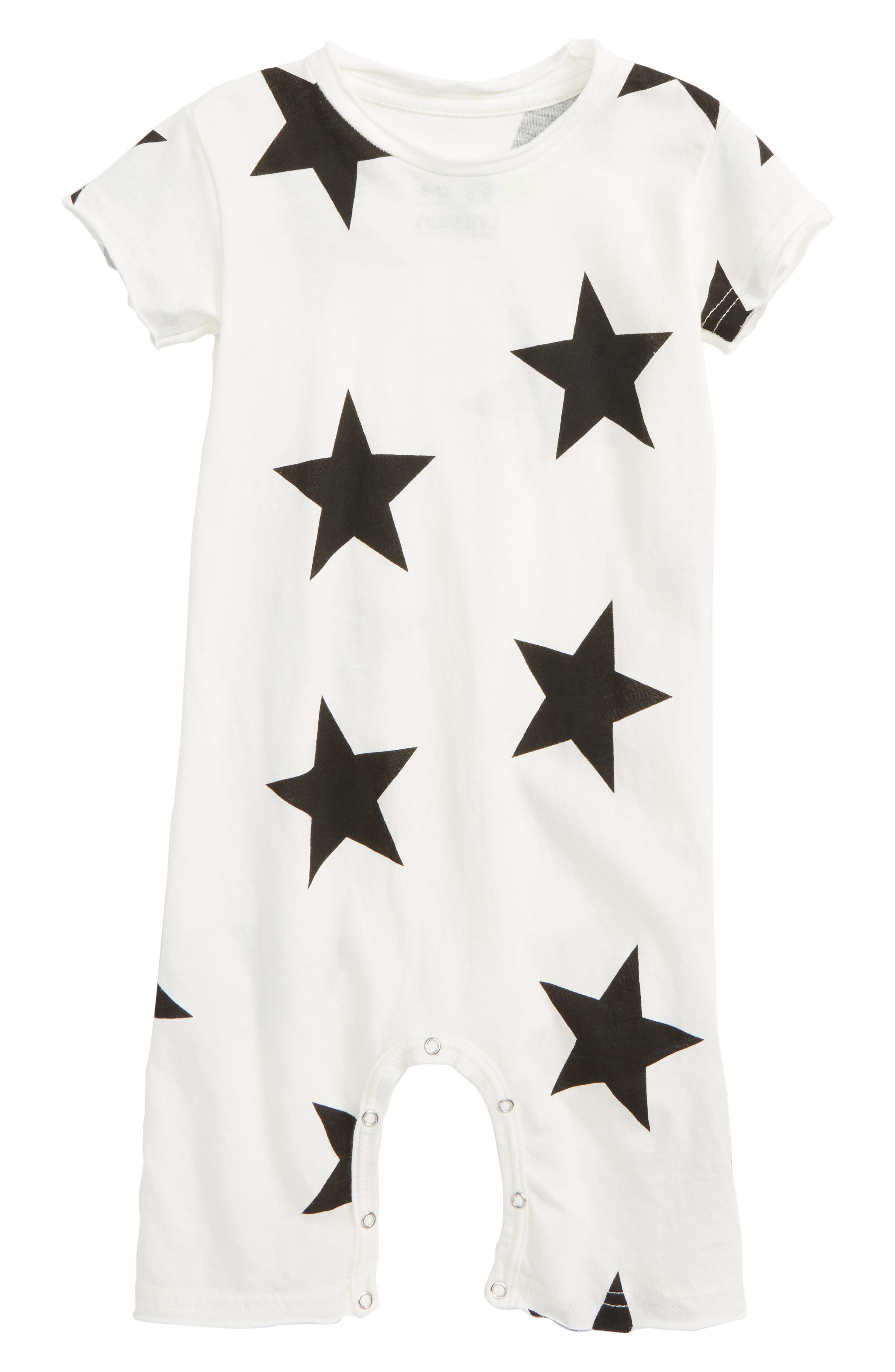Star Romper,                             Main thumbnail 1, color,                             White