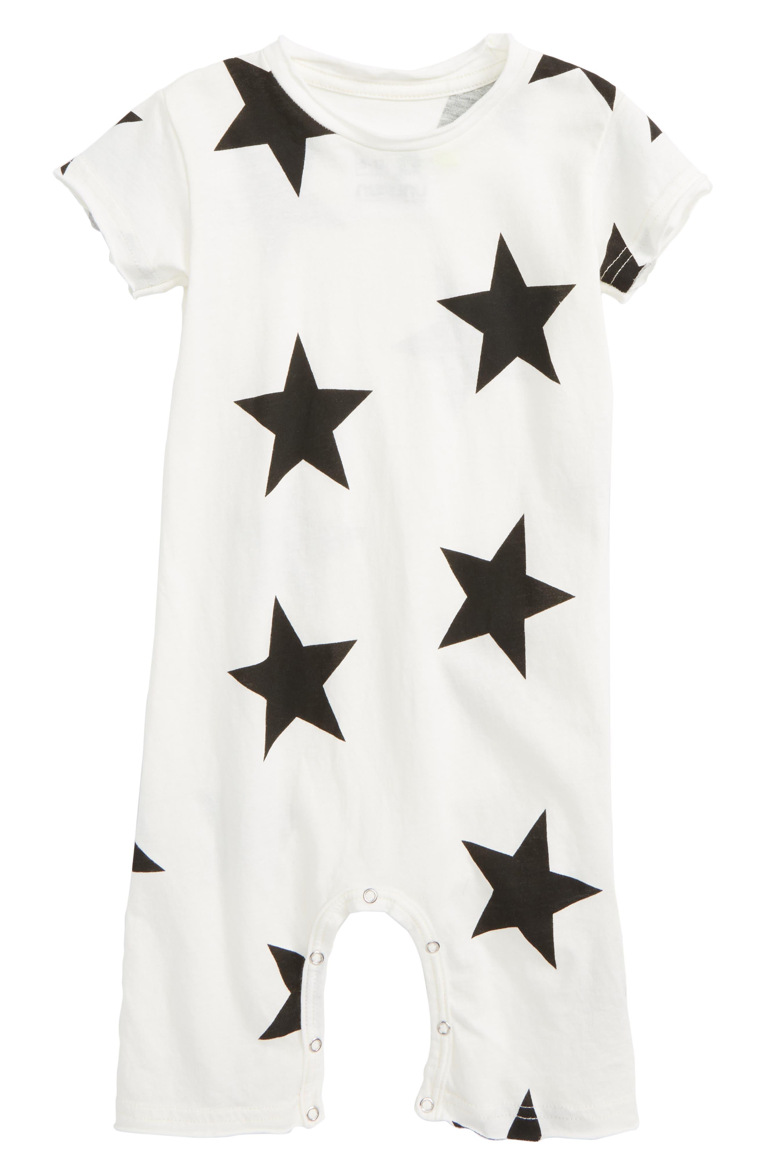 Star Romper,                         Main,                         color, White