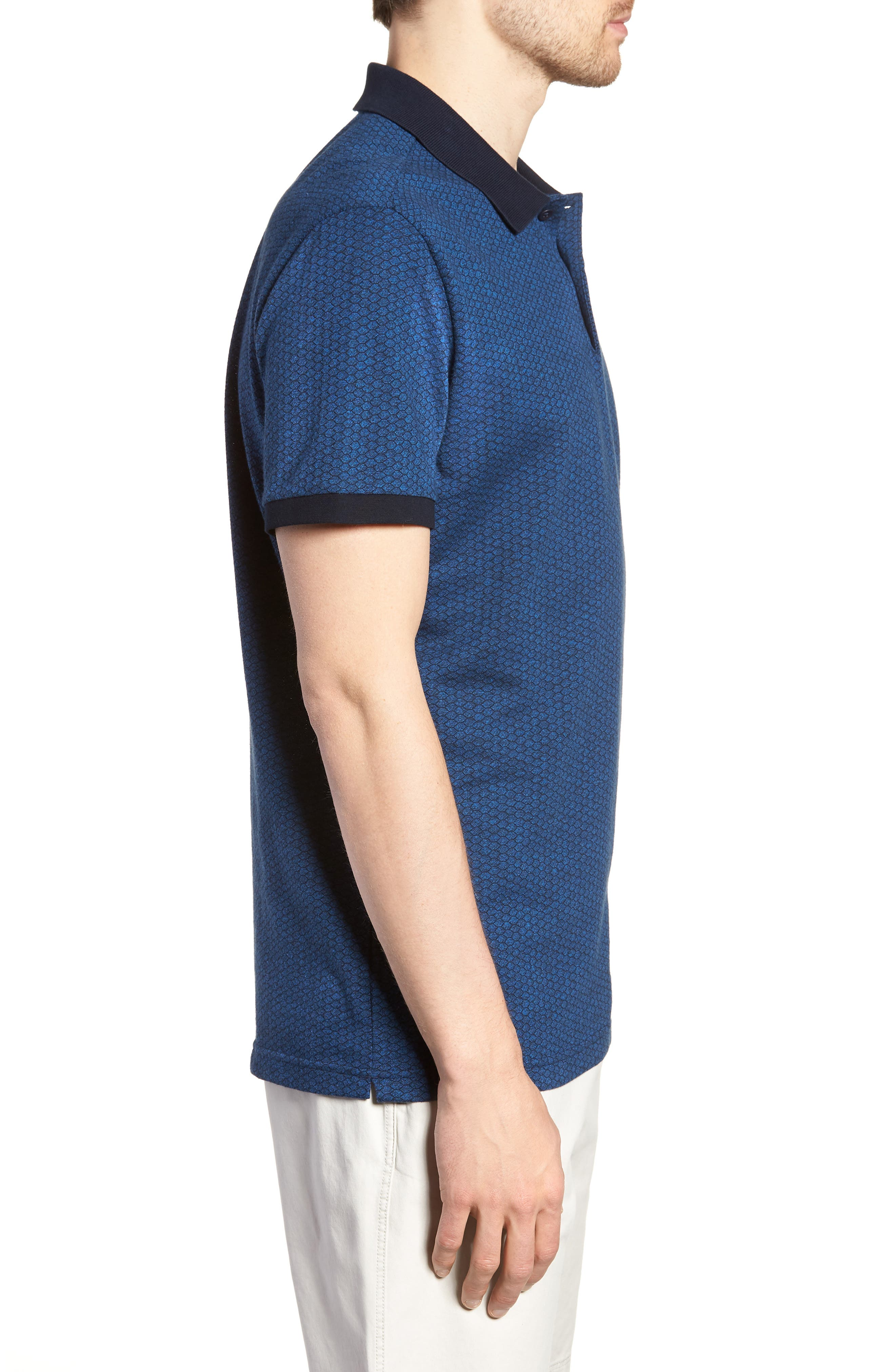 Mantle Hill Sports Fit Polo,                             Alternate thumbnail 3, color,                             Ocean