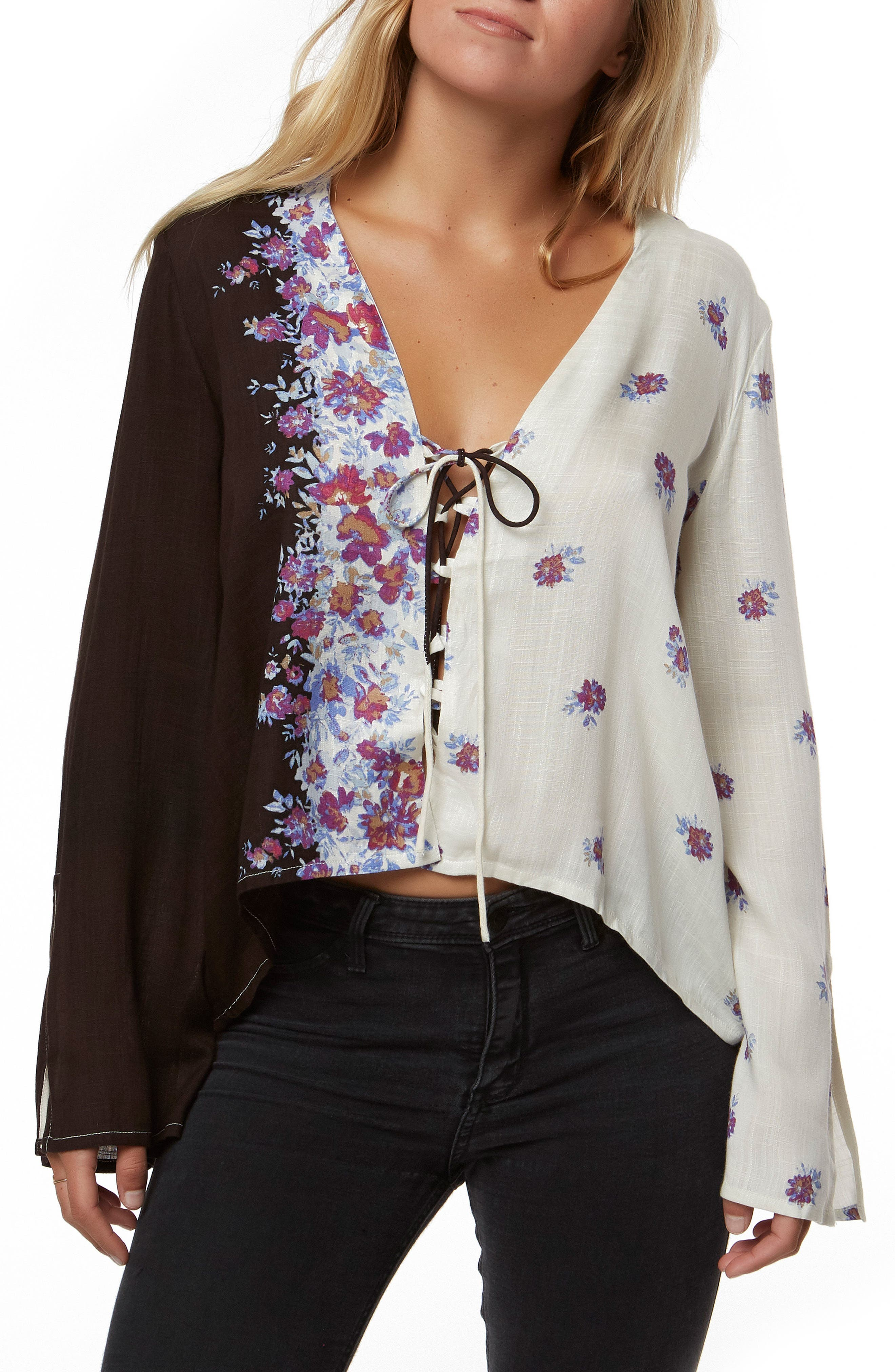Charley Floral Print Top,                             Main thumbnail 1, color,                             Multi Colored