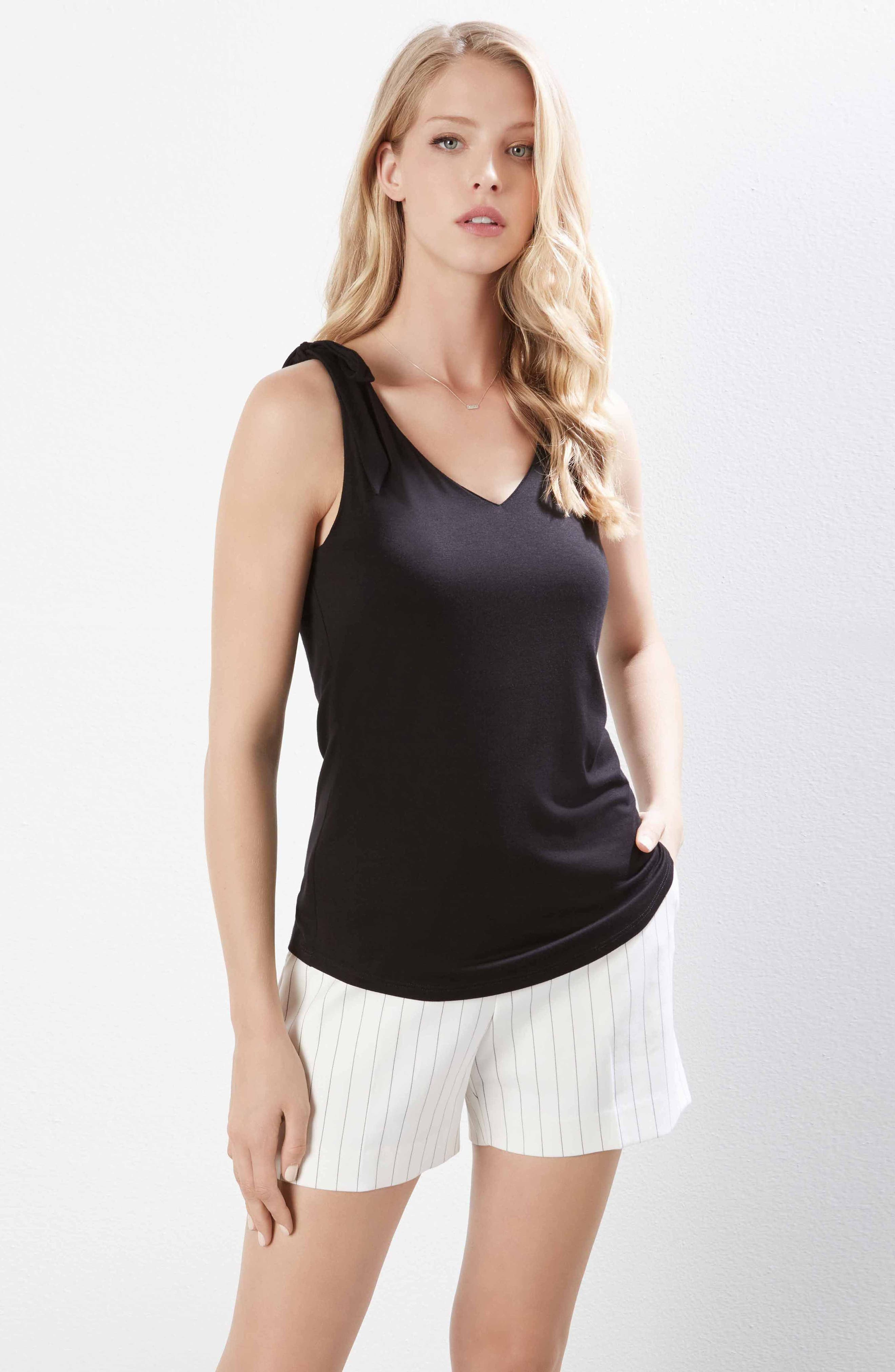 Alternate Image 3  - Karen Kane Bow Strap Stretch Jersey Tank