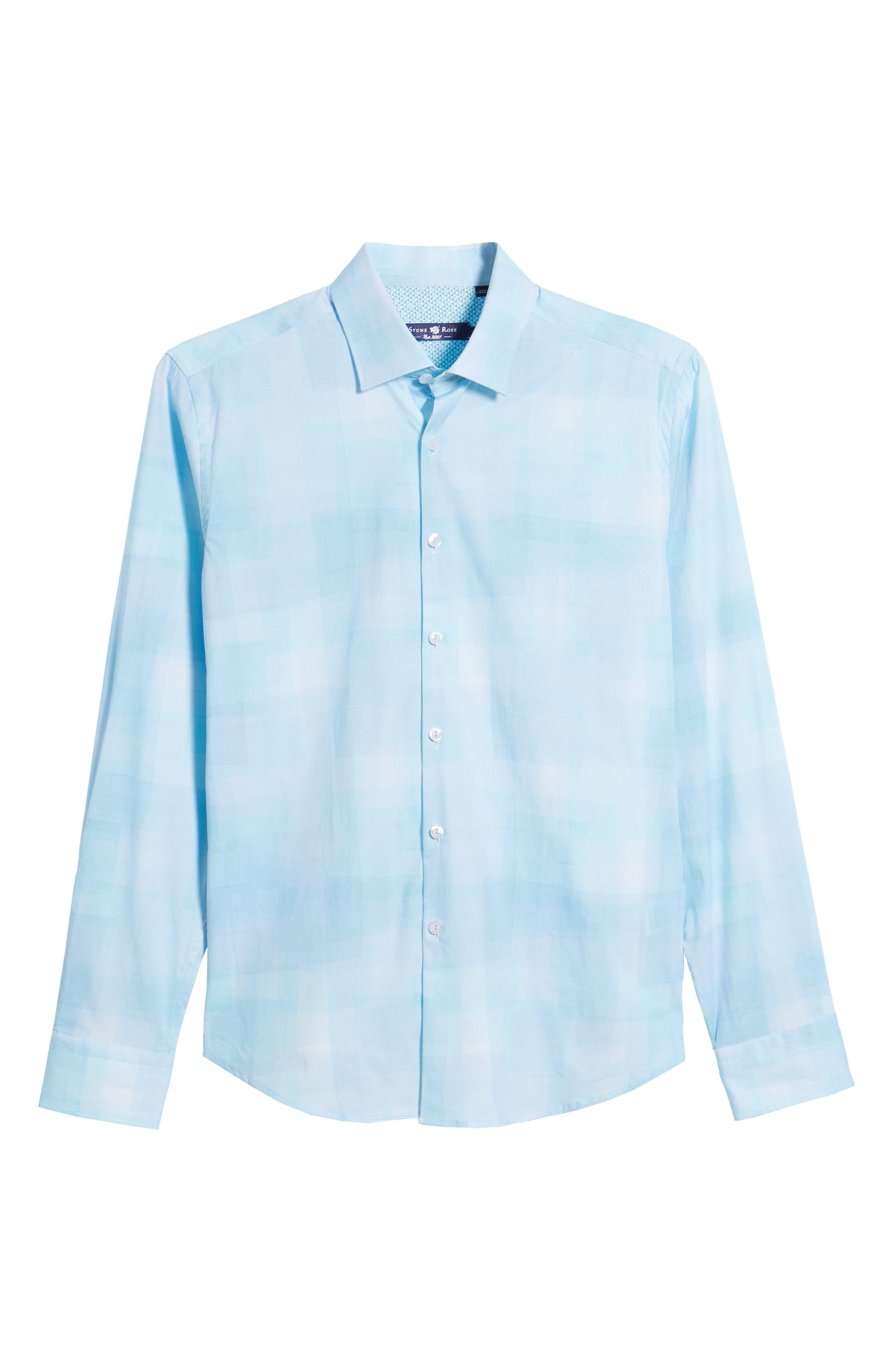 Plaid Sport Shirt,                             Alternate thumbnail 6, color,                             Mint