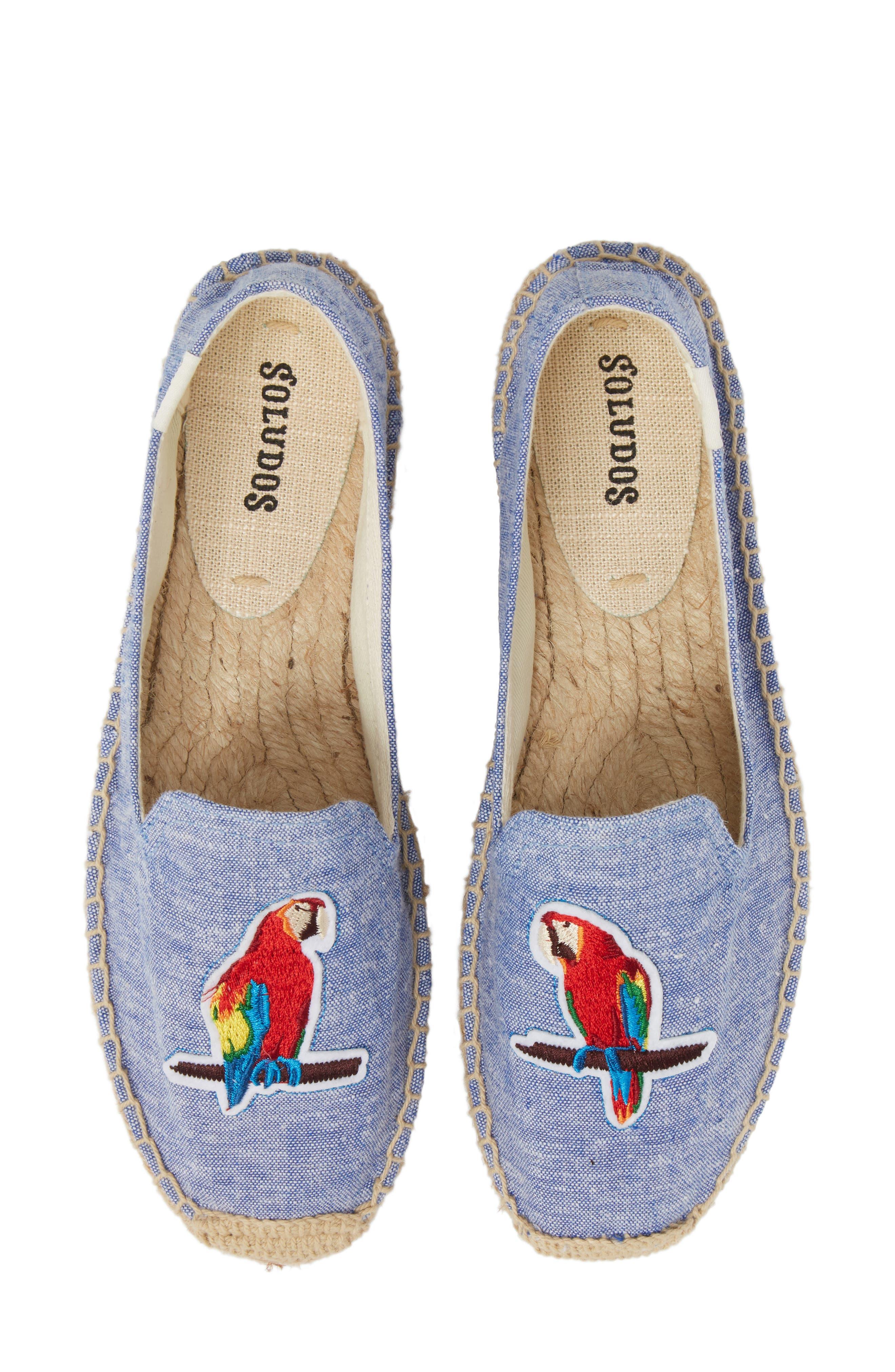 Espadrille Slip-On,                         Main,                         color, Ocean Blue Fabric