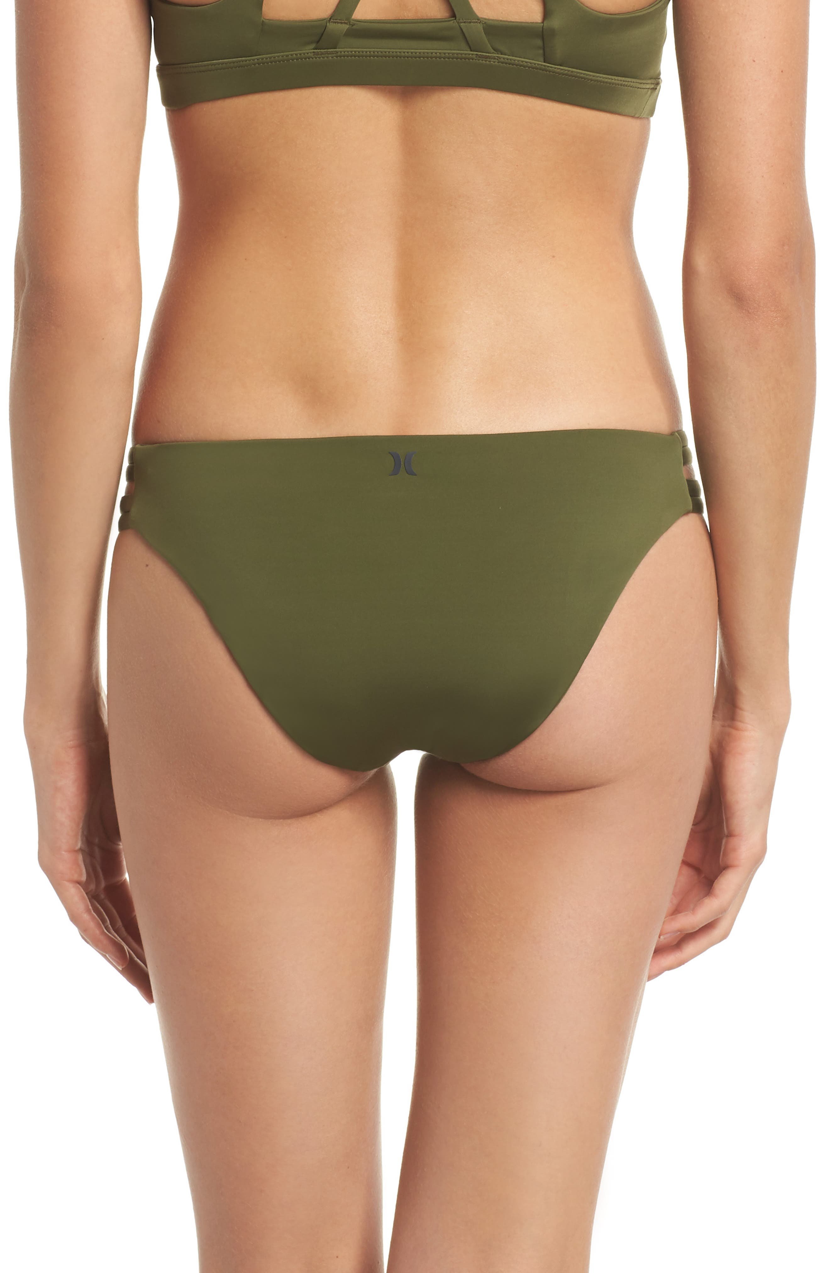Quick Dry Max Surf Bikini Bottoms,                             Alternate thumbnail 2, color,                             Olive Canvas