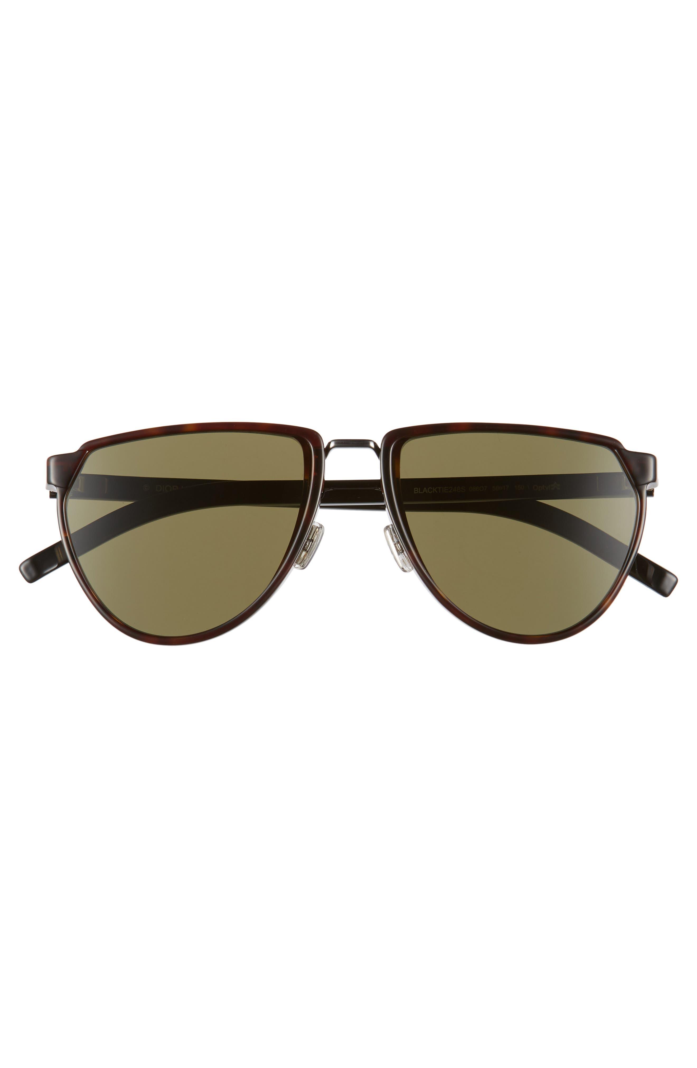 Alternate Image 2  - Dior Homme 58mm Sunglasses