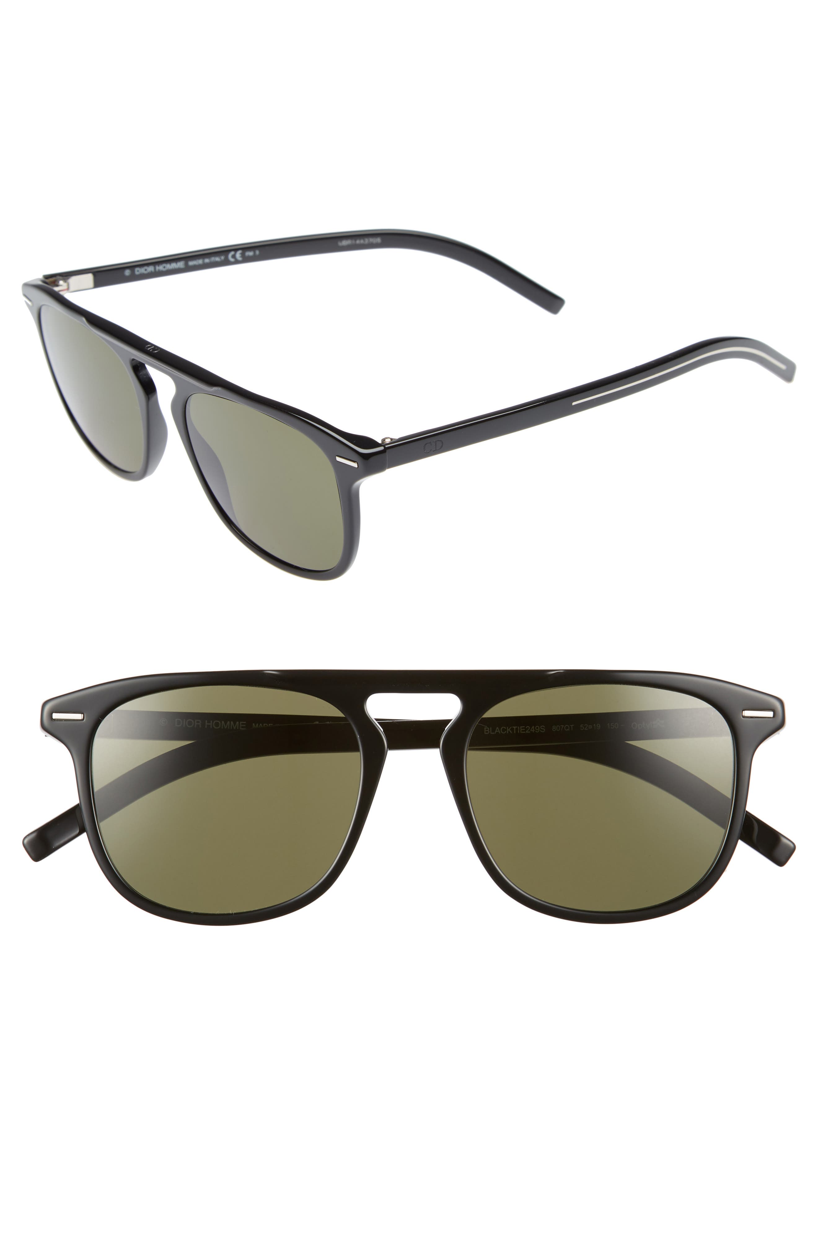 DIOR HOMME 52Mm Sunglasses - Black