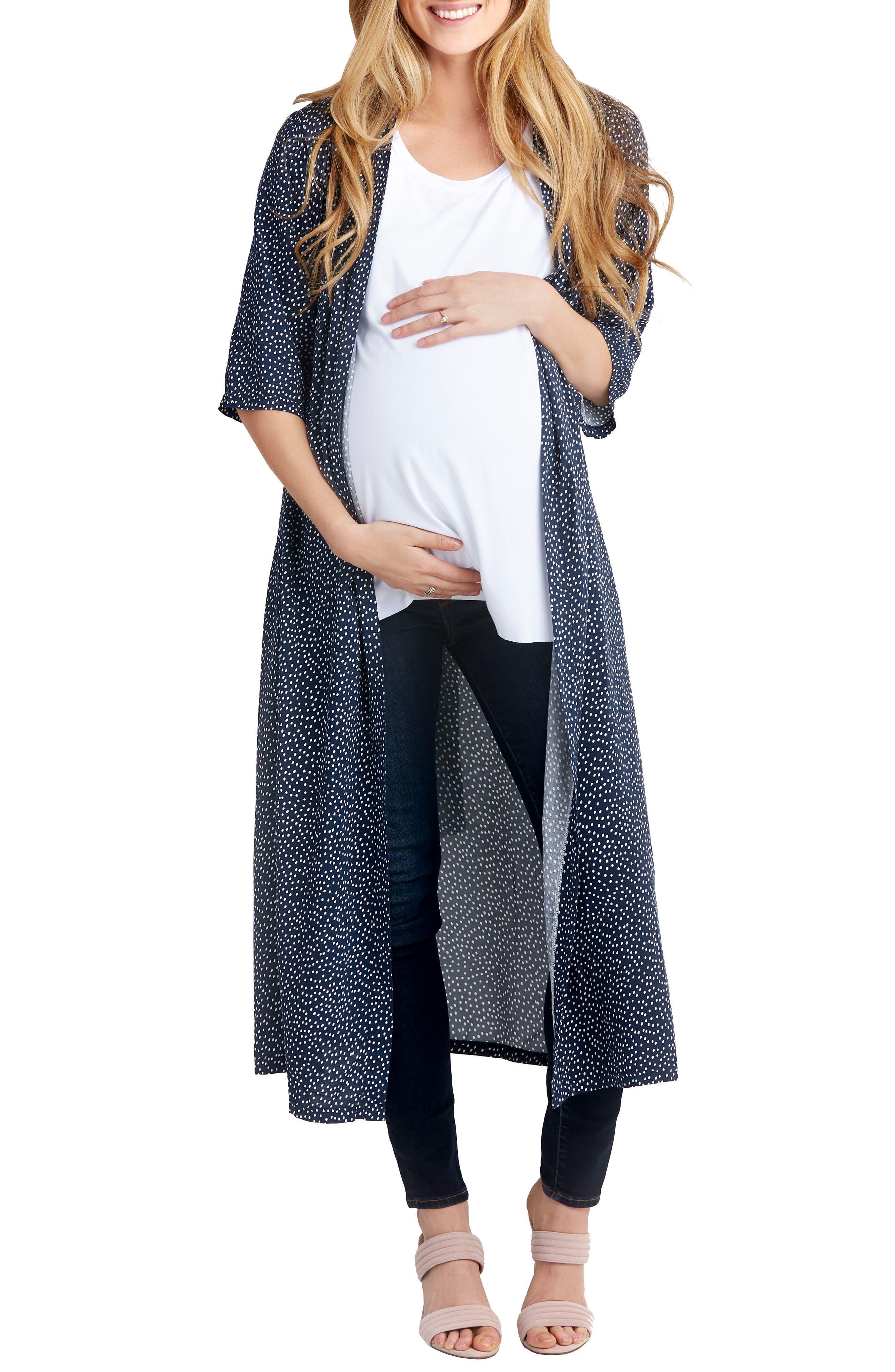 Draper Maternity Robe,                             Main thumbnail 1, color,                             Dot