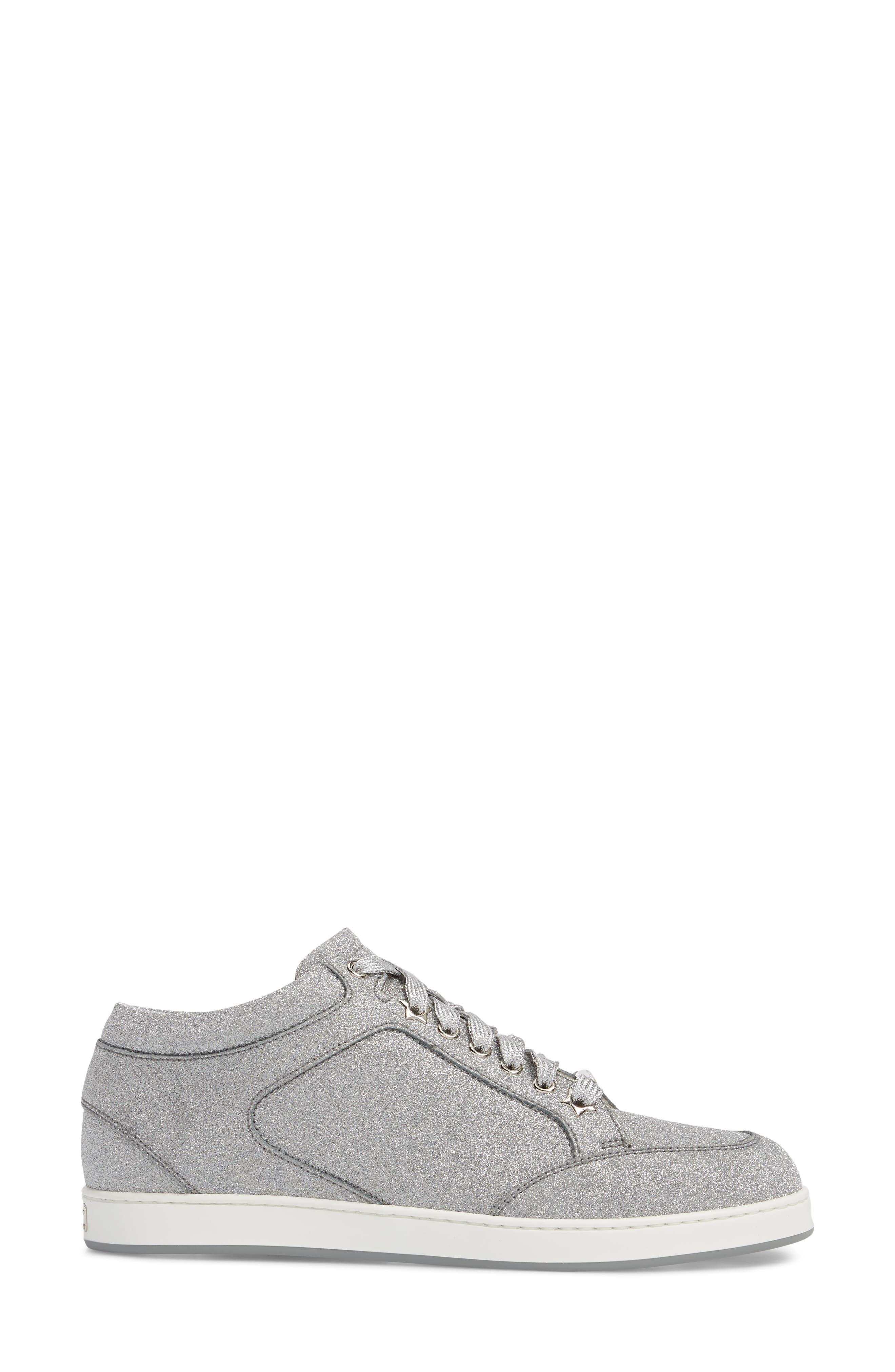 Miami Metallic Sneaker,                             Alternate thumbnail 3, color,                             Silver