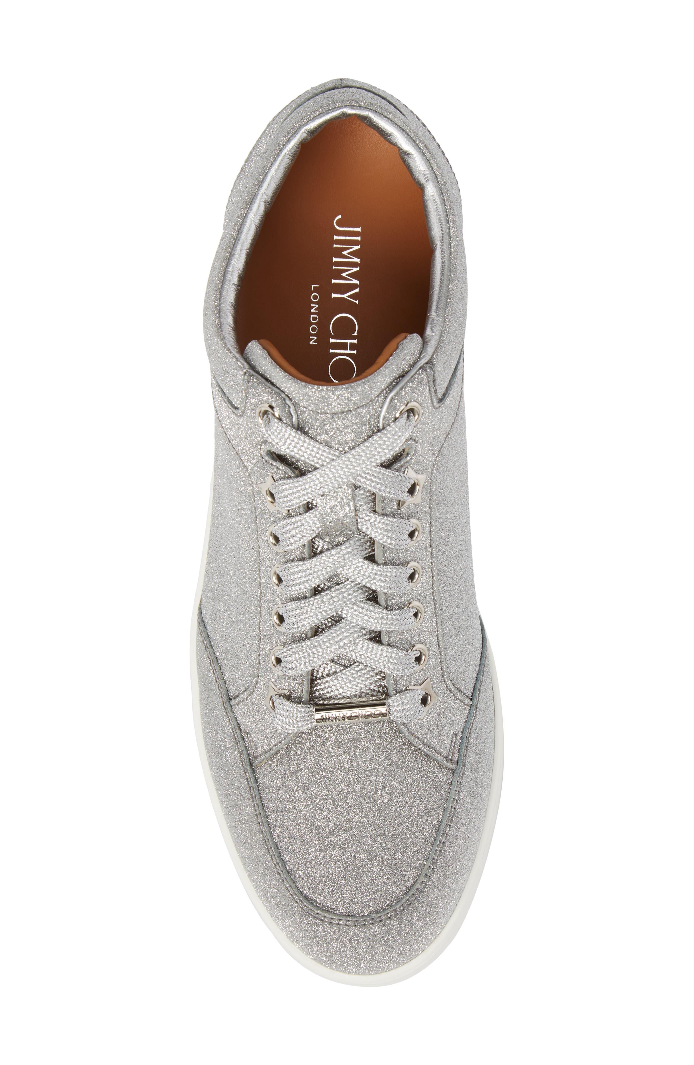 Miami Metallic Sneaker,                             Alternate thumbnail 5, color,                             Silver