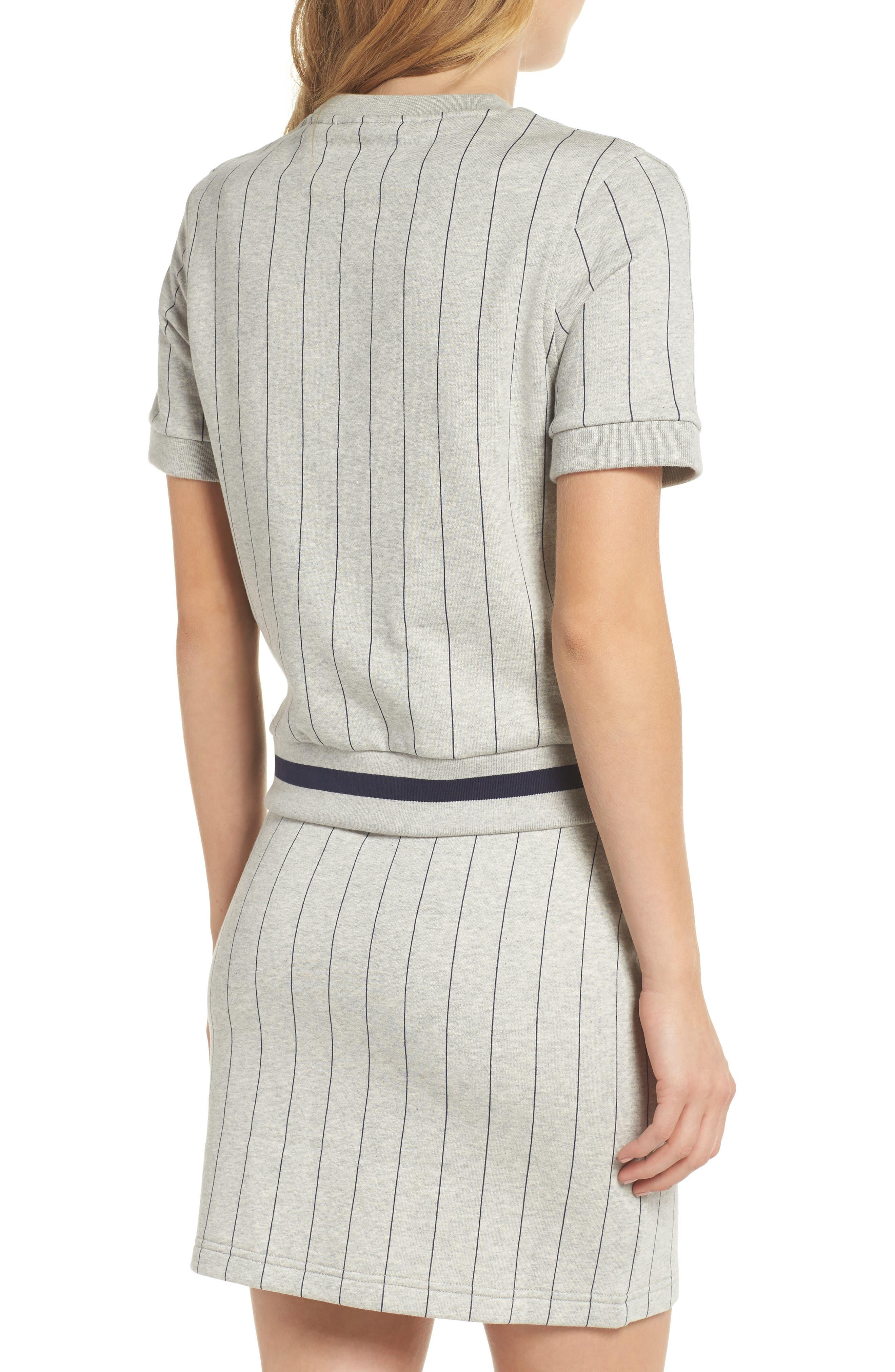 Bren Stripe Sweatshirt,                             Alternate thumbnail 3, color,                             Light Grey Marl/ Peacoat
