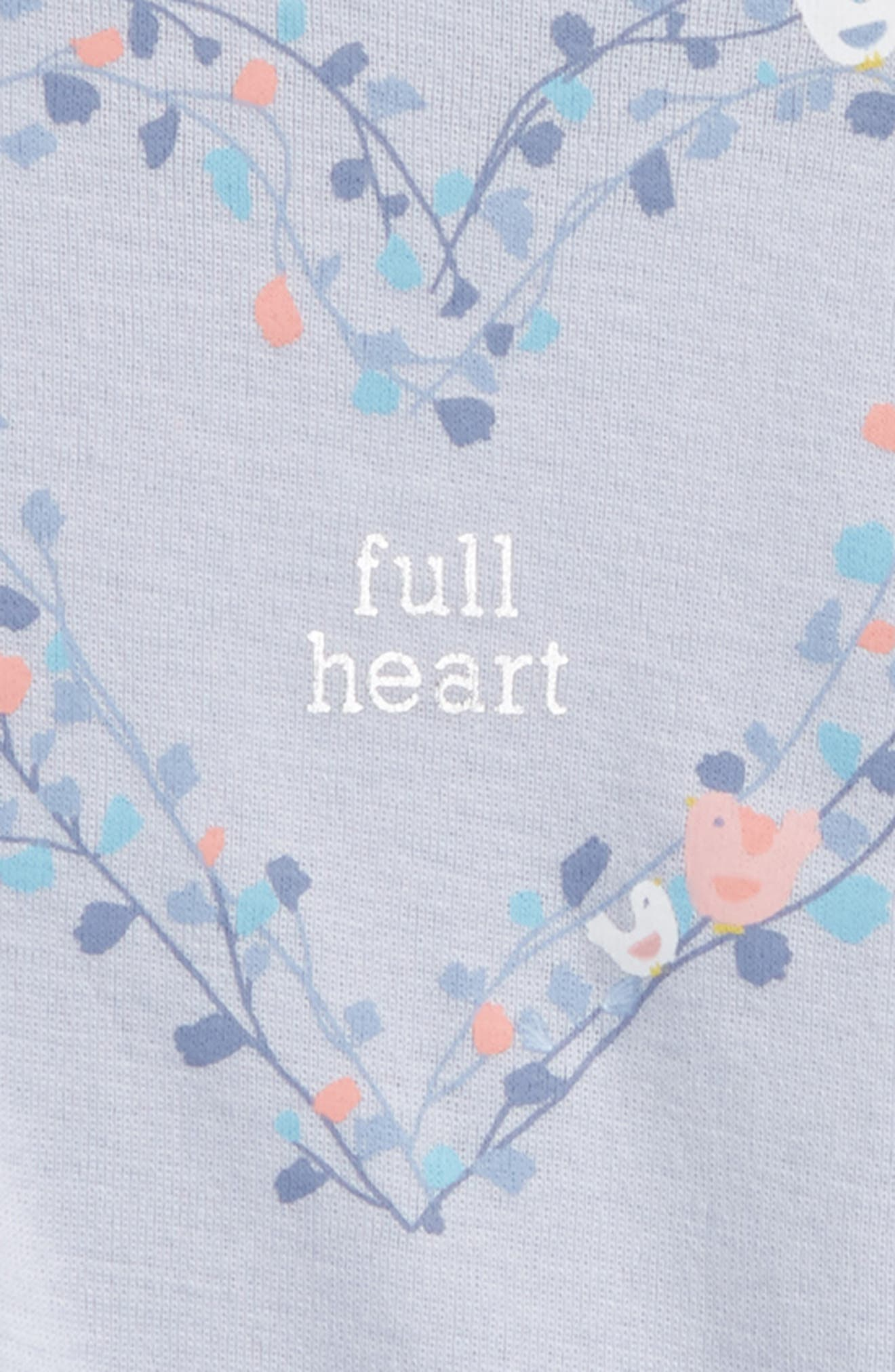Alternate Image 2  - Peek Full Heart Tee (Baby Girls)