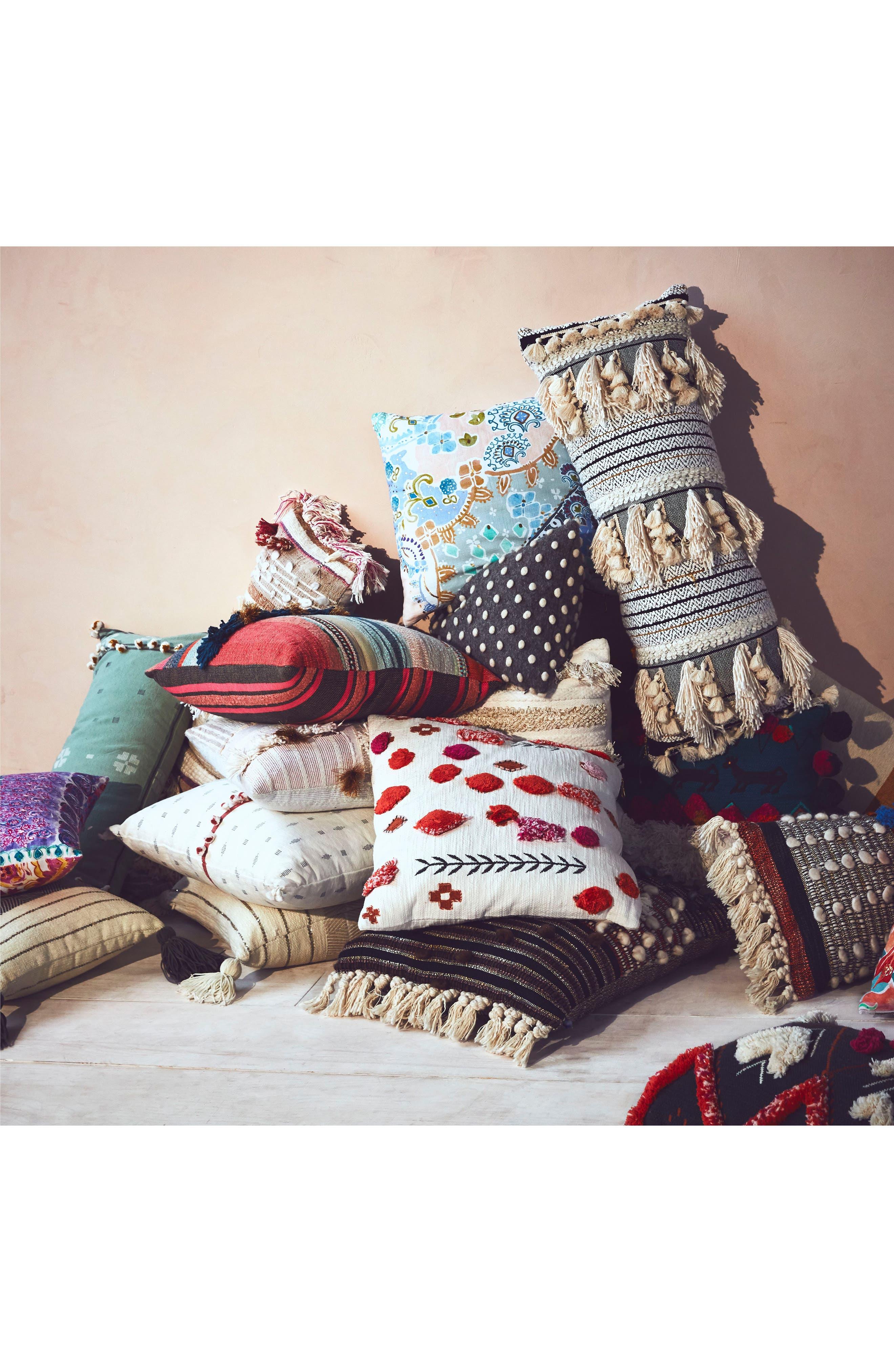 Araya Accent Pillow,                             Alternate thumbnail 4, color,                             Ochre/ Turquoise