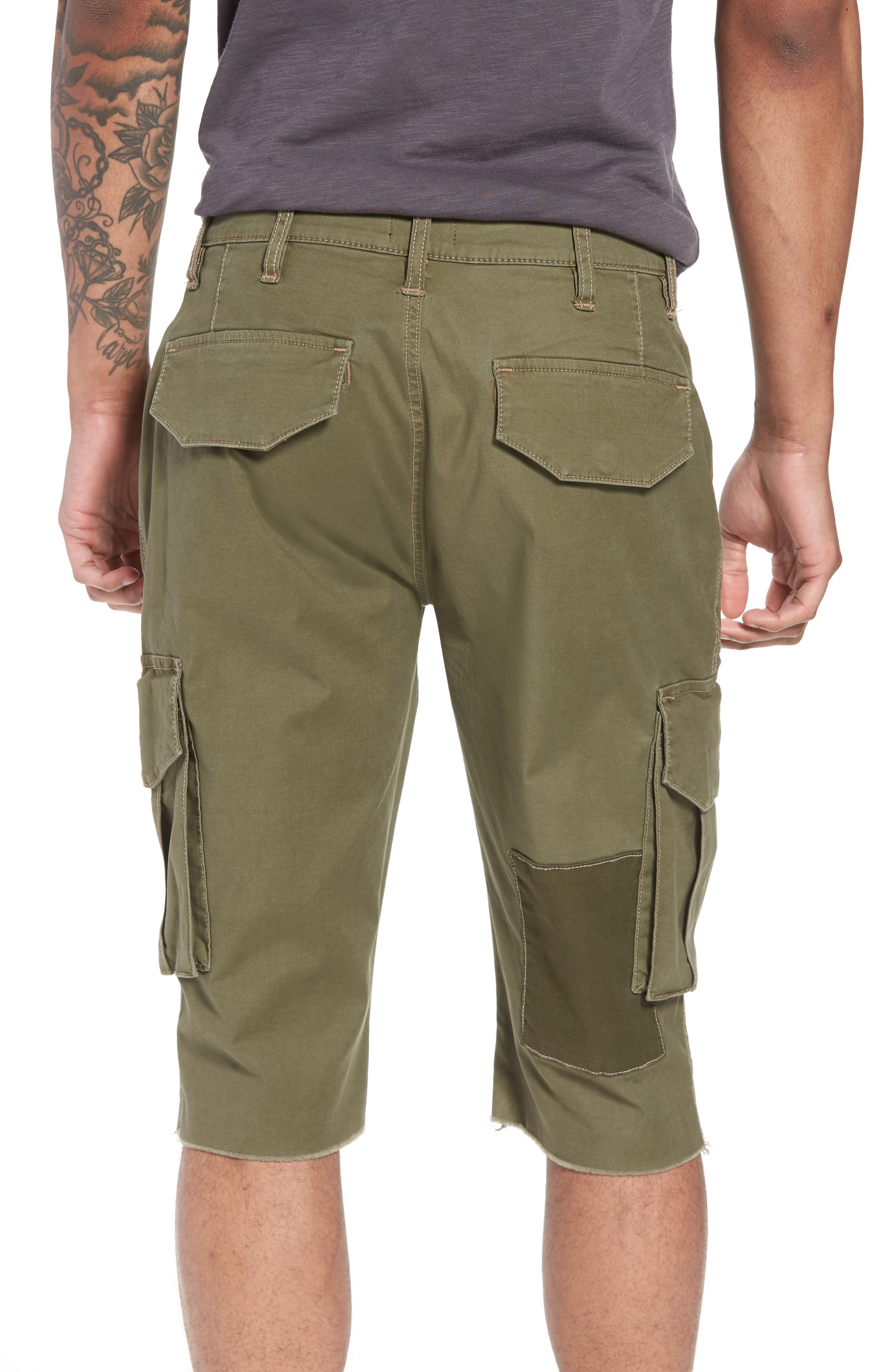 Slim Fit Cargo Shorts,                             Alternate thumbnail 2, color,                             Army Green 2