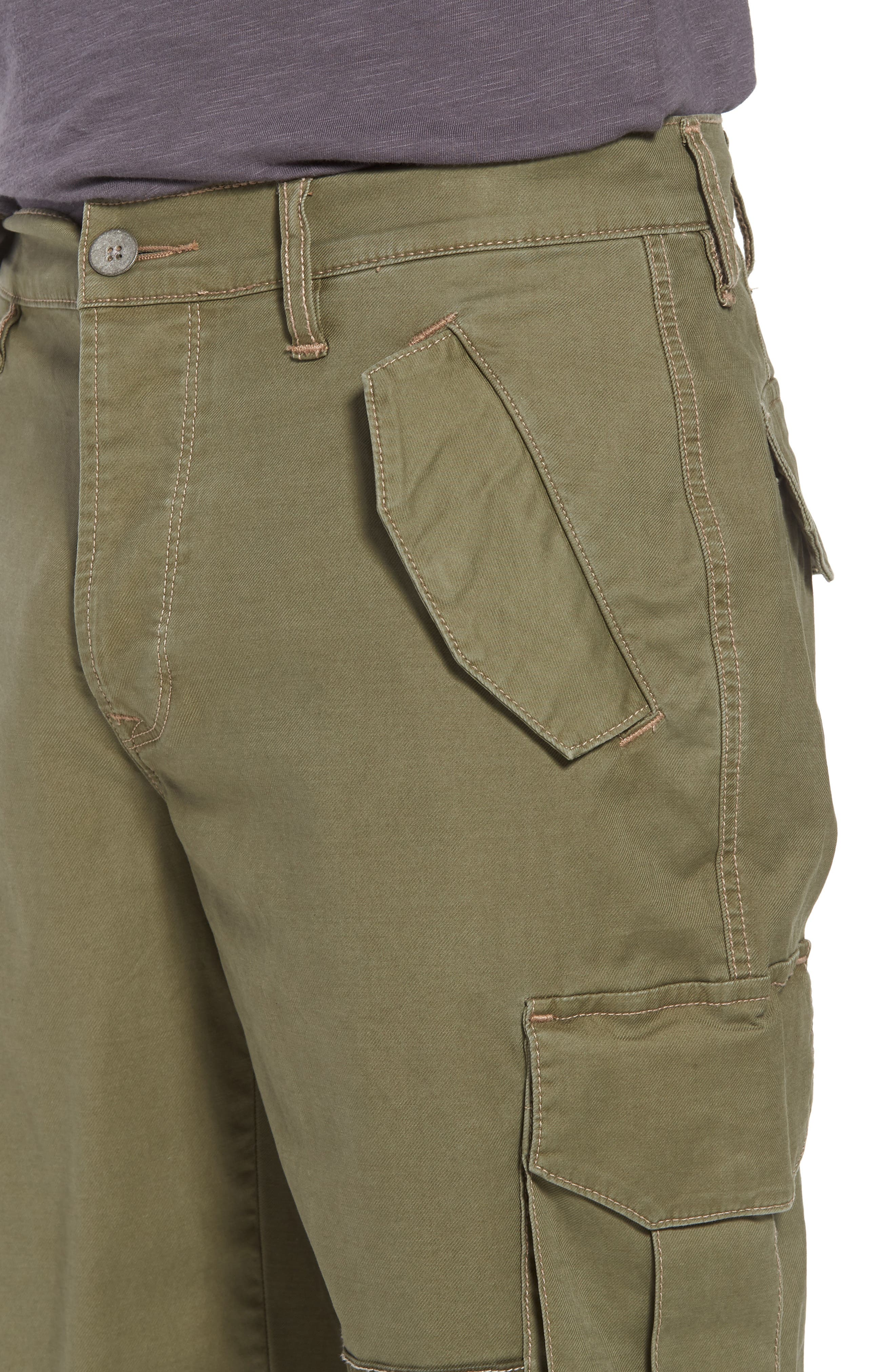 Slim Fit Cargo Shorts,                             Alternate thumbnail 4, color,                             Army Green 2