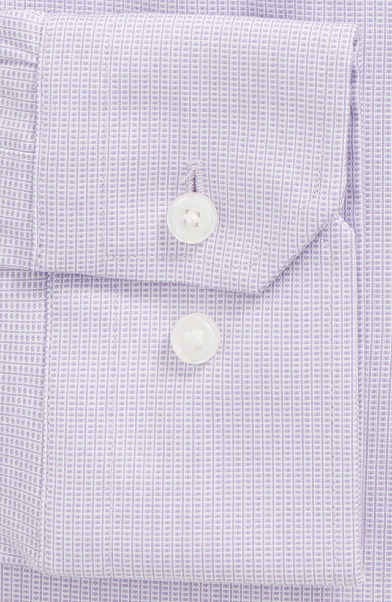 Trim Fit Non-Iron Stretch Dress Shirt,                             Alternate thumbnail 2, color,                             Purple Rapsody