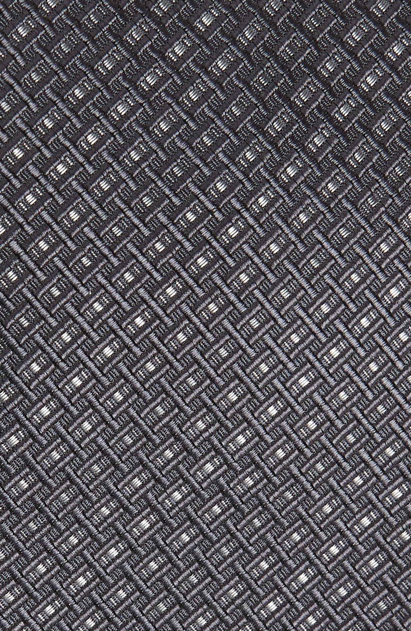 Alternate Image 2  - Salvatore Ferragamo Este Solid Silk & Cotton Tie