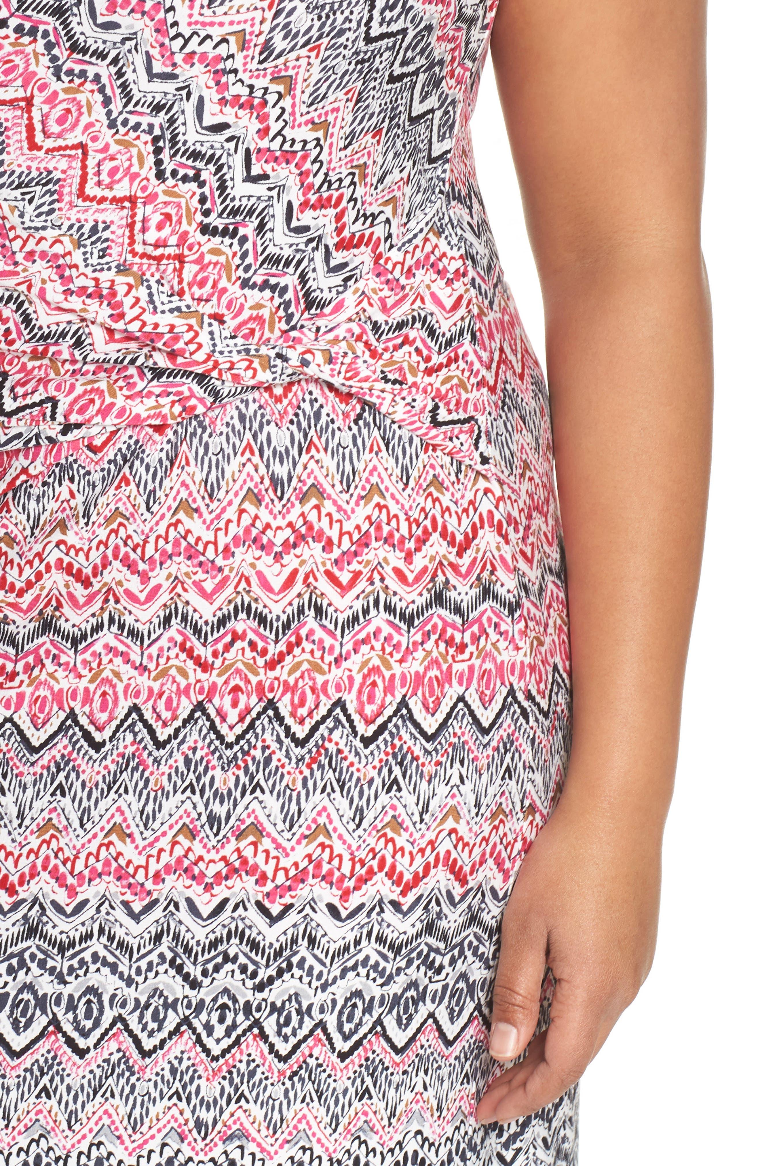 Spiced Up Twist Sheath Dress,                             Alternate thumbnail 4, color,                             Multi