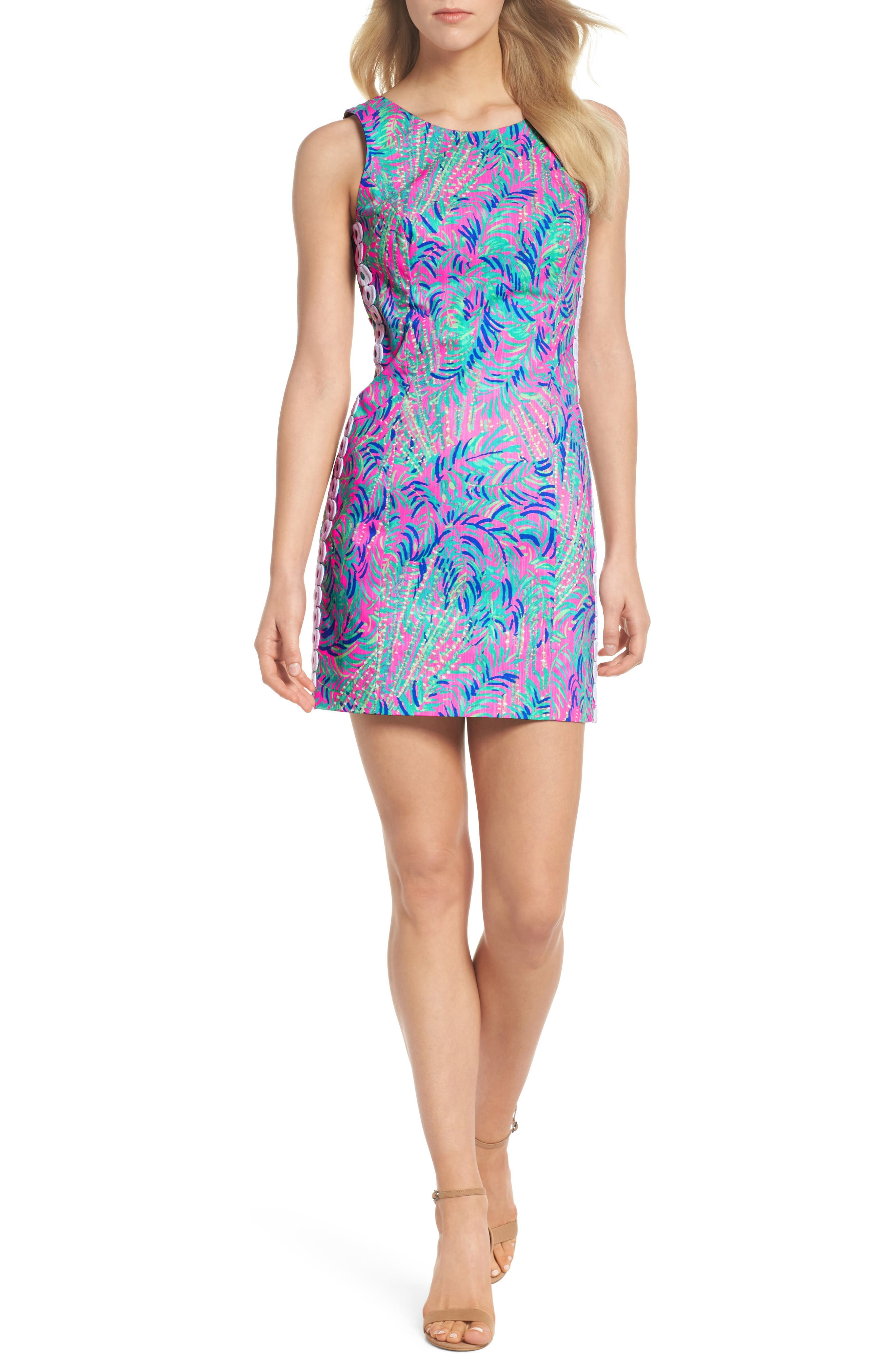 Mila Sheath Dress,                             Main thumbnail 1, color,                             Pink Sunset Coco Breeze