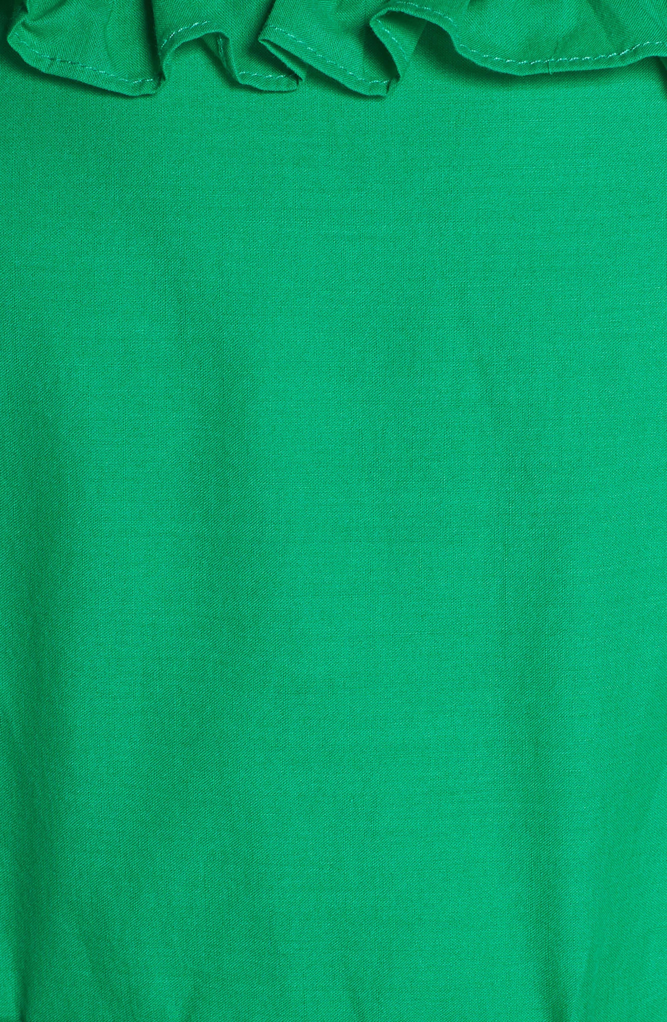 Eyelet Hem Fit & Flare Sundress,                             Alternate thumbnail 6, color,                             Green