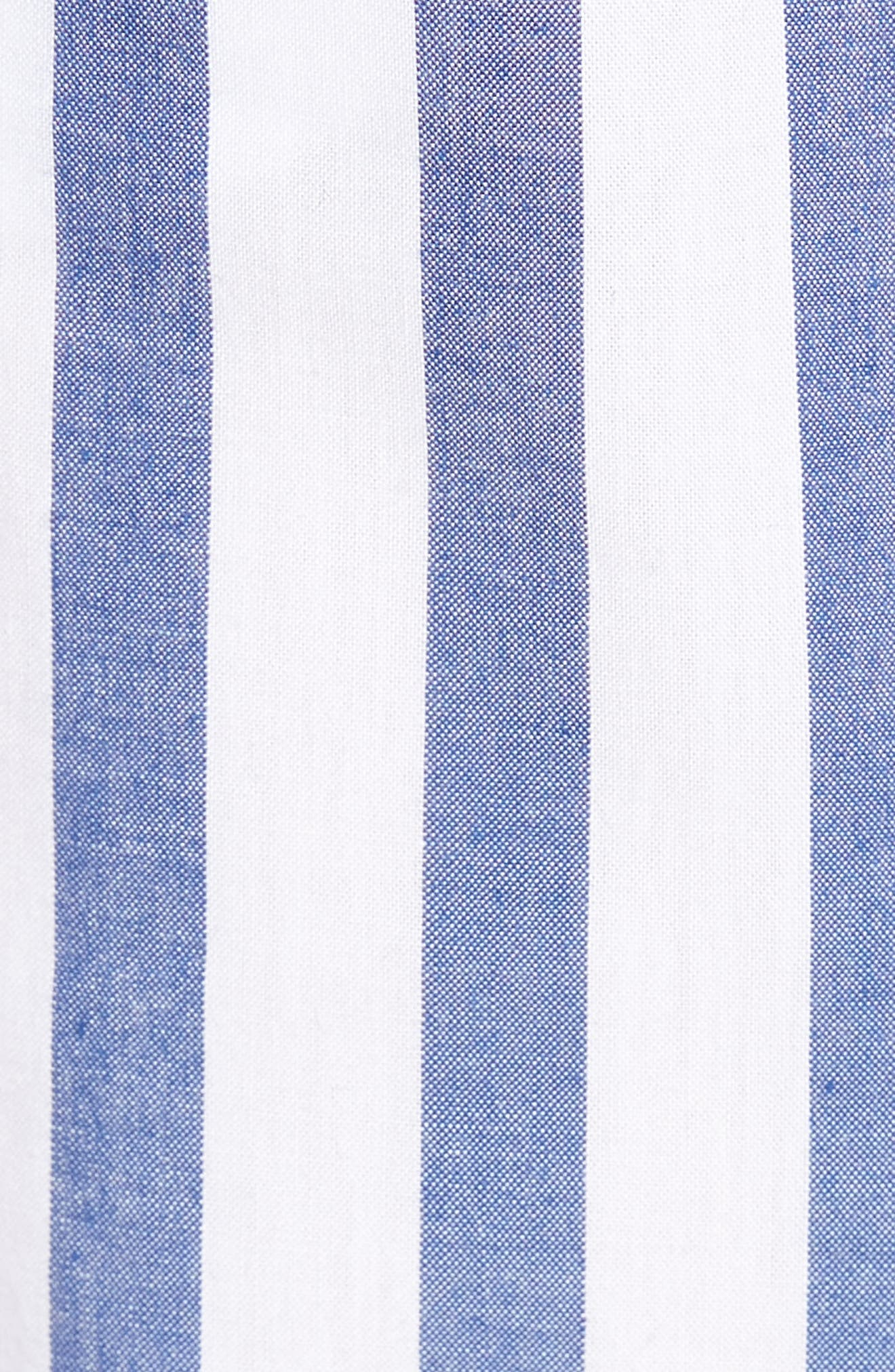 Aversa Crop Wide Leg Pants,                             Alternate thumbnail 6, color,                             Navy Stripe