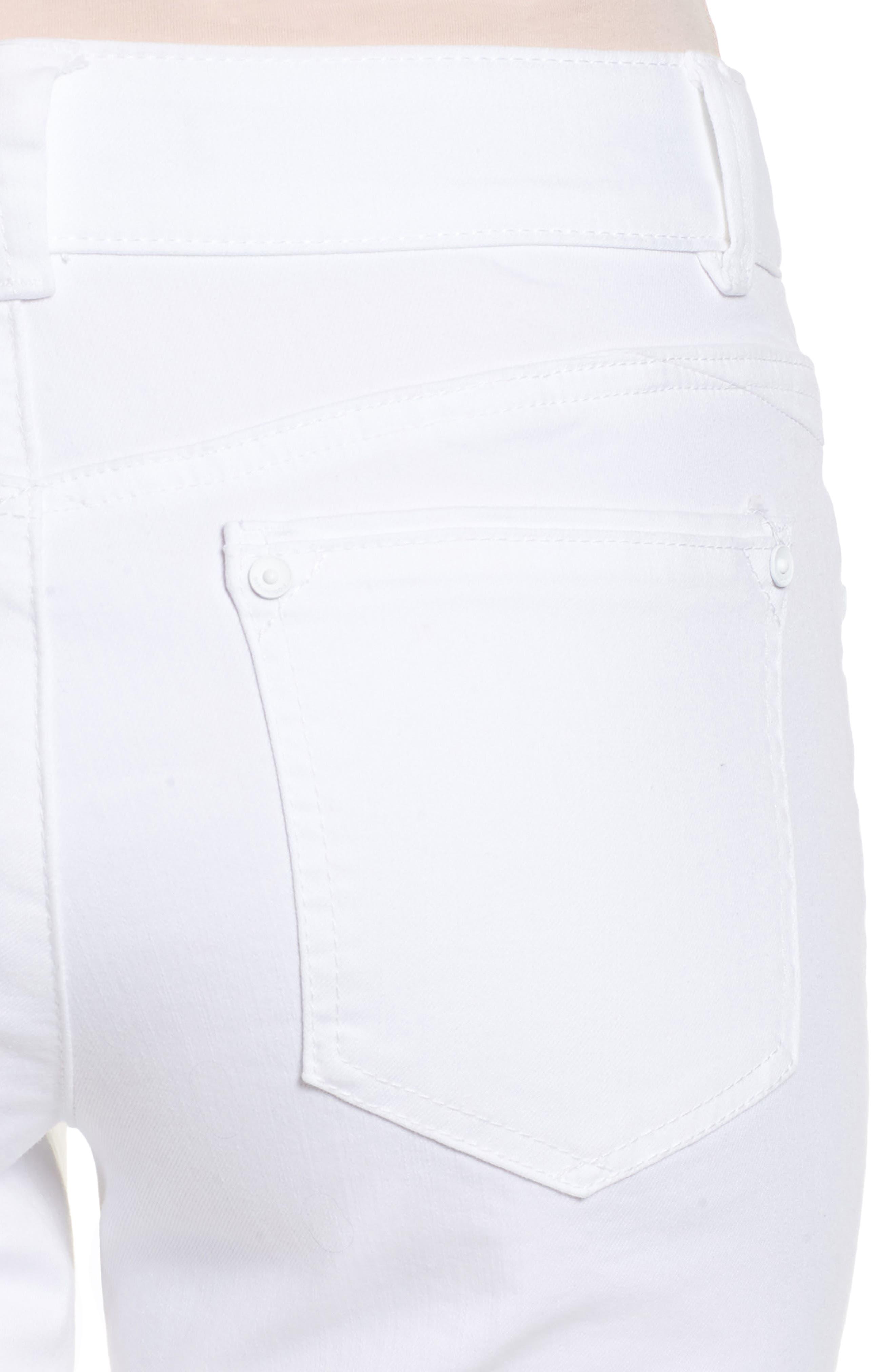 Ab-solution Ankle Skimmer Jeans,                             Alternate thumbnail 4, color,                             Optic White
